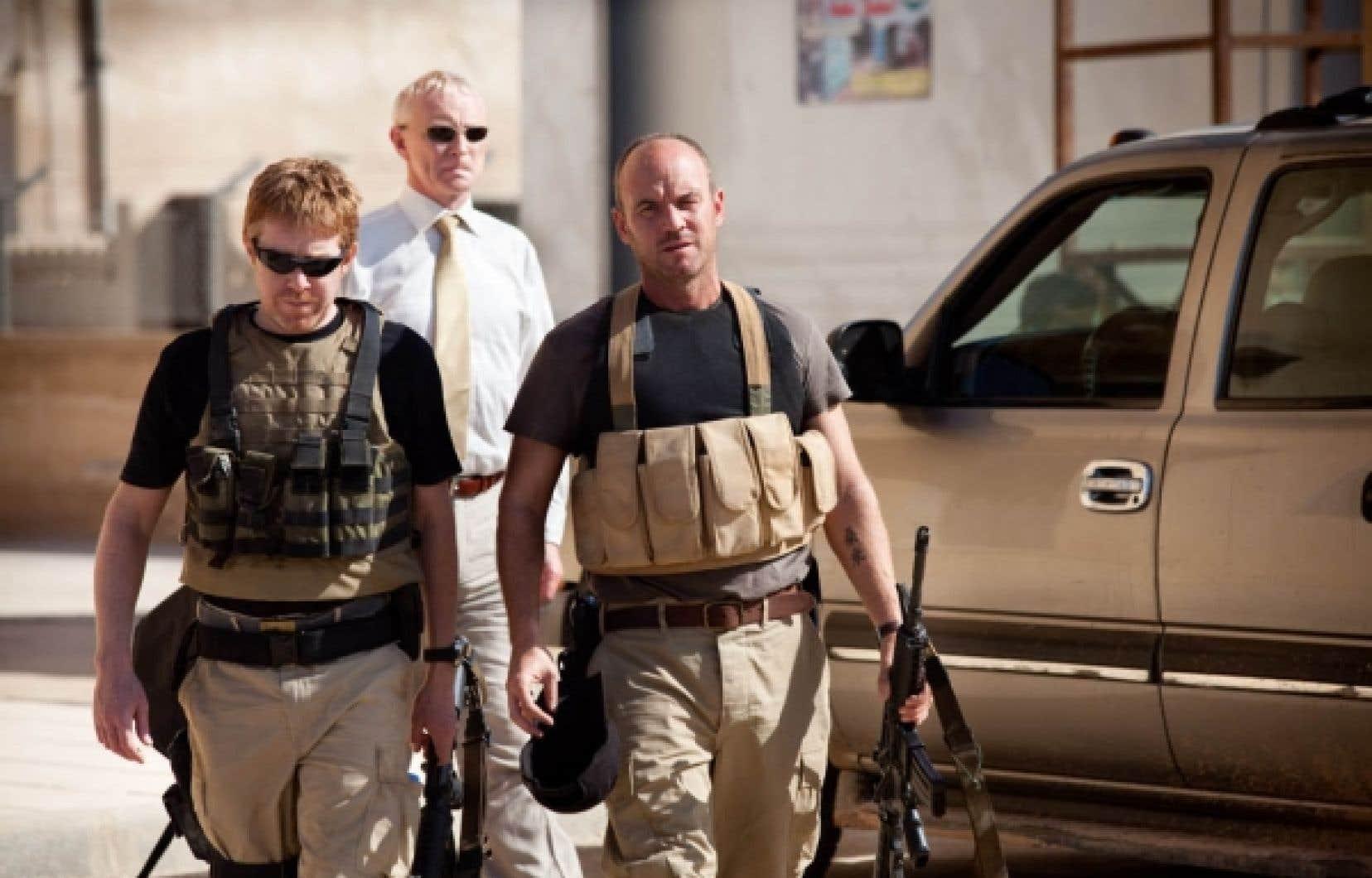 Une scène de Irish Road, avec entre autres Mark Womack (droite).