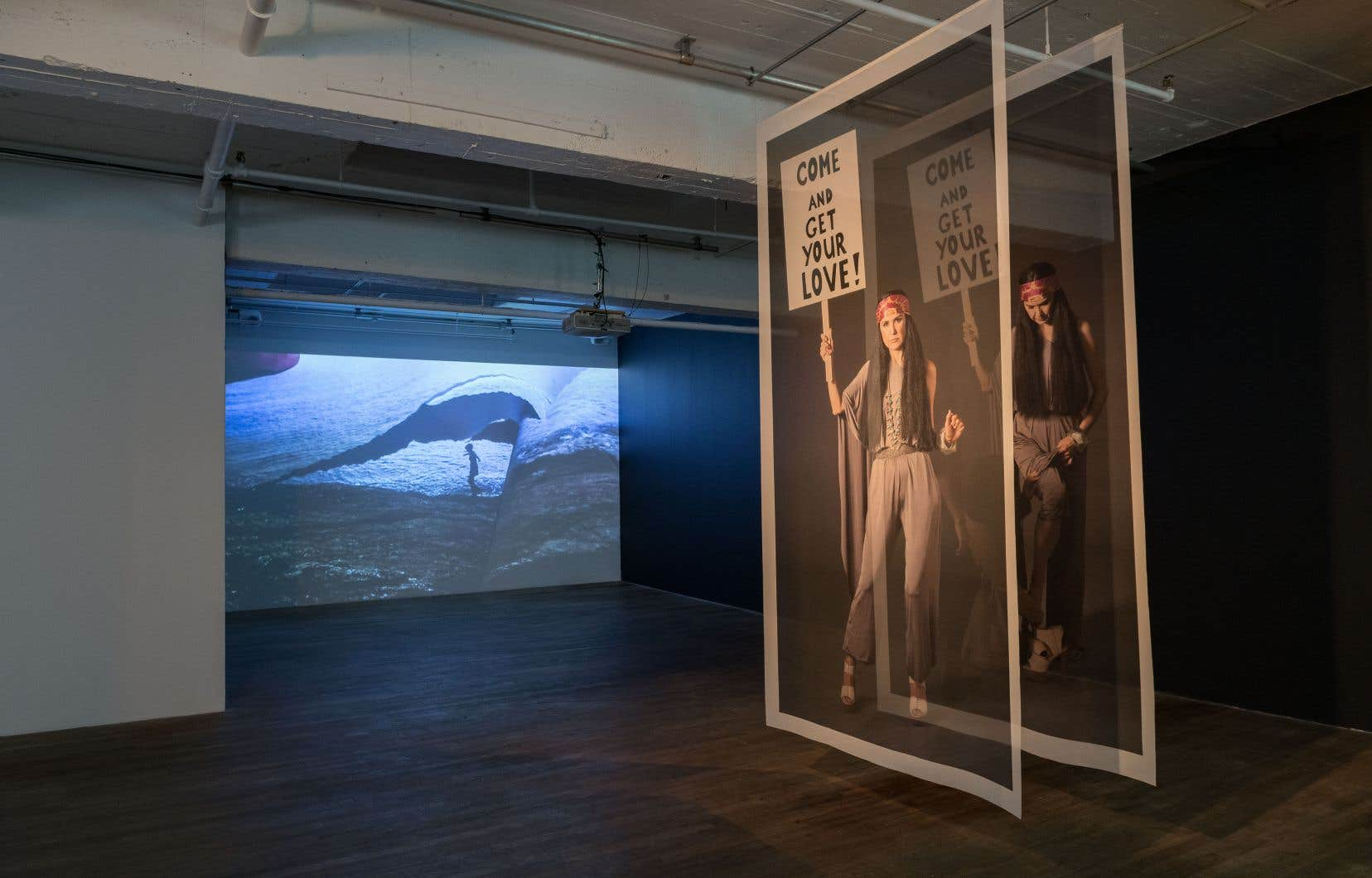 Judith Albert, «Mare Moso», 2015 et Dana Claxton, «The Protector», 2015