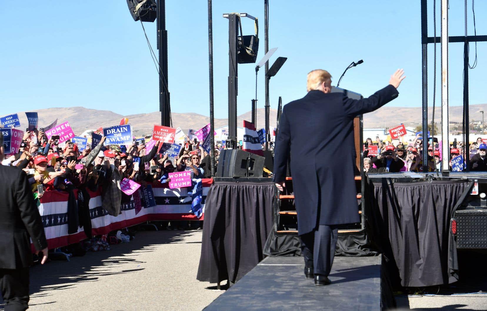 Donald Trump est en visite au Nevada pour un rassemblement sur le thème «Make America Great Again».