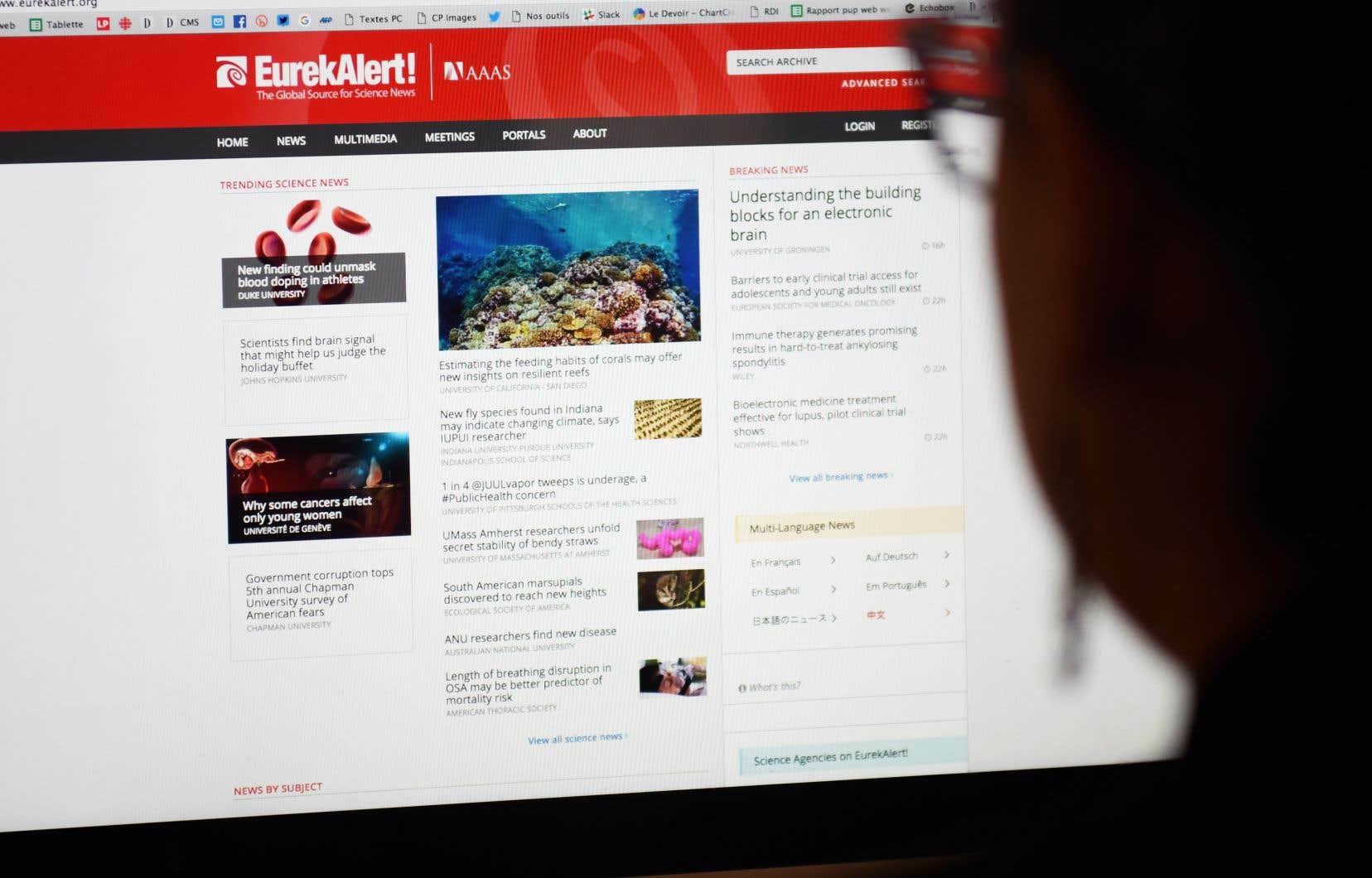 Le magazine en ligne «HealthNewsReview»a même créé une rubrique «communiqués de presse problématiques» et c'est son éditeur, Kevin Lomangino, qui, cette semaine, a publié un appel à ce qu'Eurekalert «sévisse contre la désinformation».