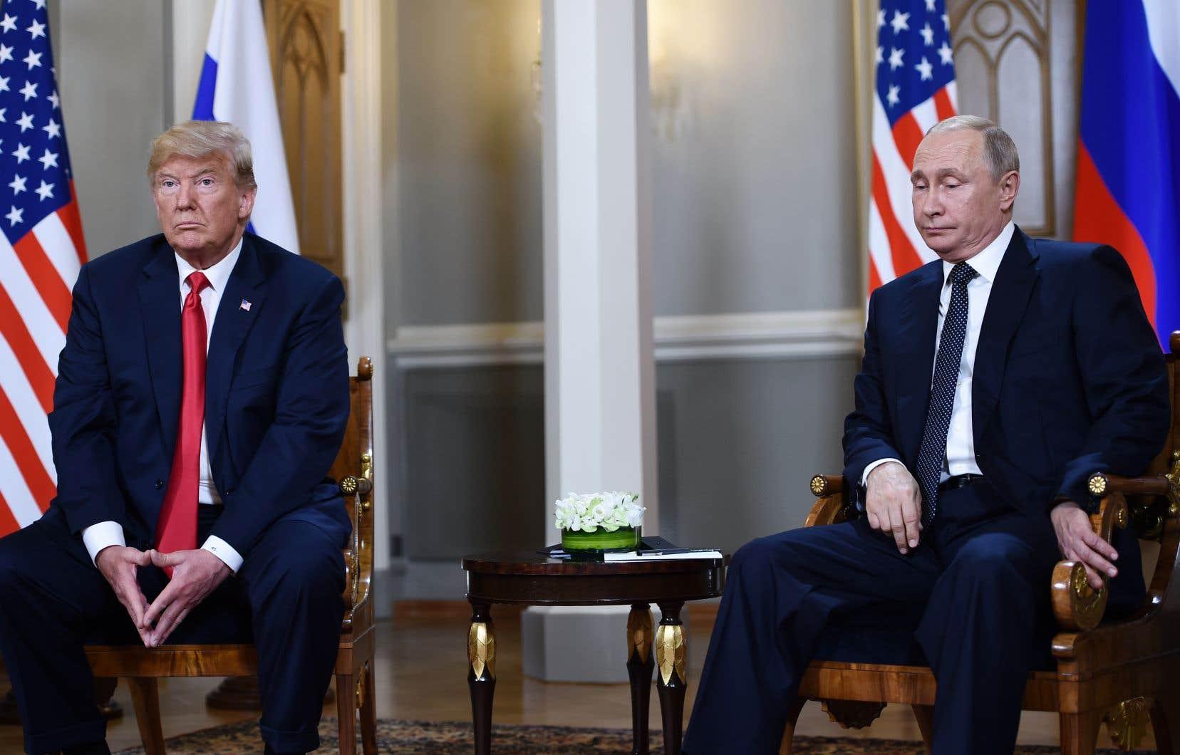 Les présidents américain et russe, Donald Trump et Vladimir Poutine