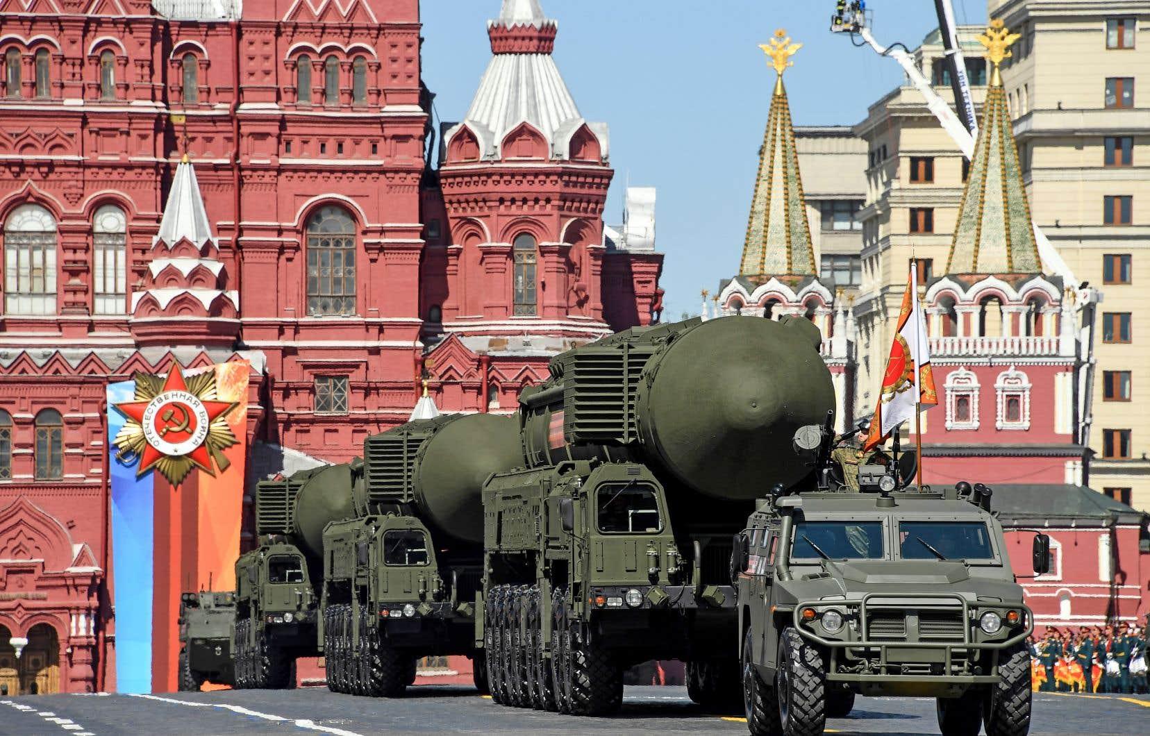 Défilé militaire du Jour de la Victoire en mai dernier, sur la place Rouge, à Moscou