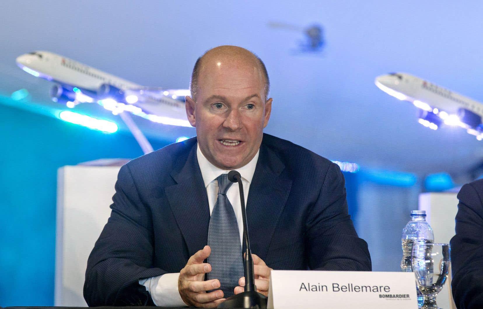 Le président et chef de la direction de Bombardier, Alain Bellemare, a tenté de régler le différend avec Mitsubishi à propos d'un vol présumé de propriété intellectuelle.