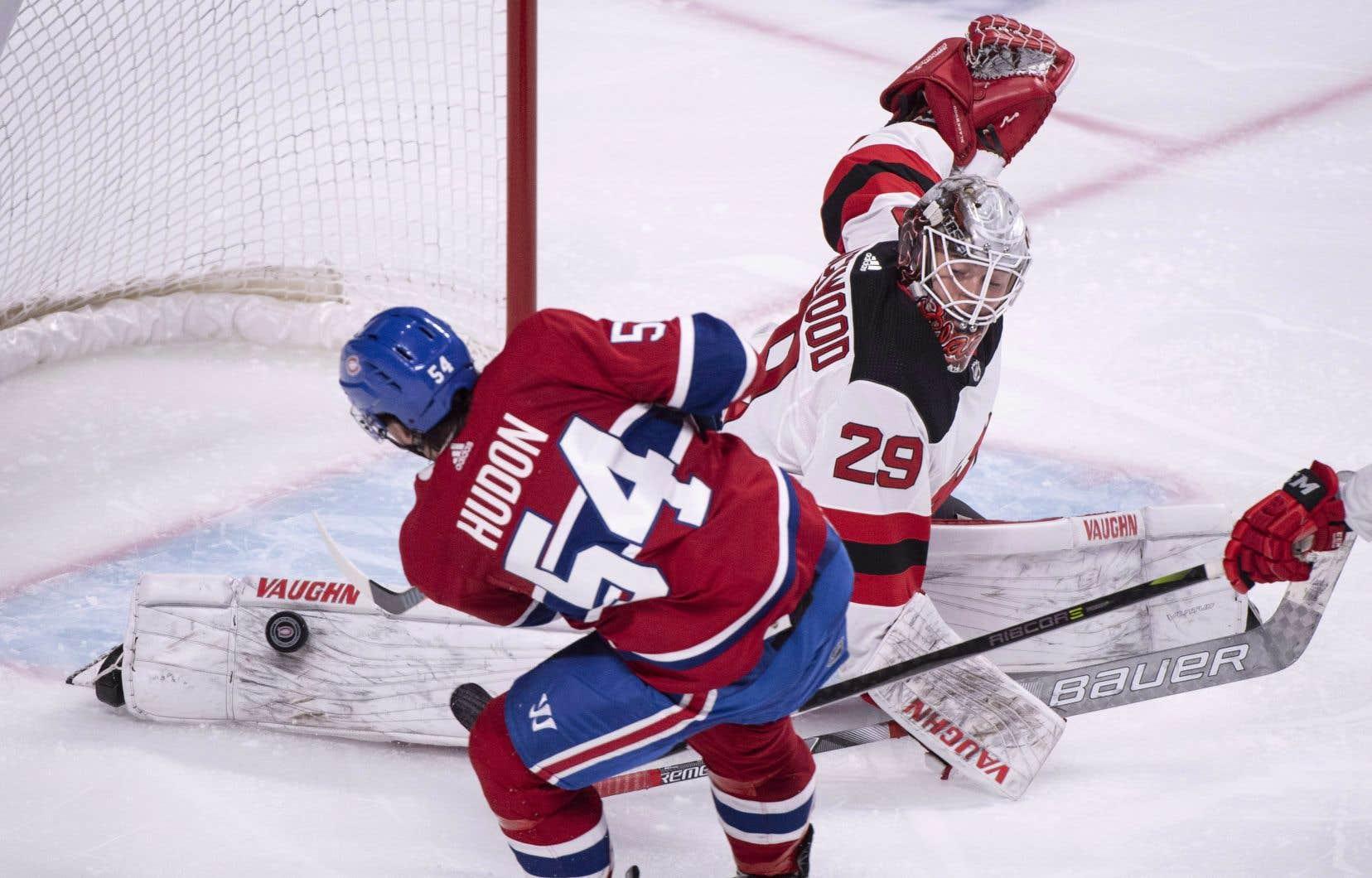 Hudon pourrait bien être mis de côté, mardi soir, face aux Flames de Calgary.