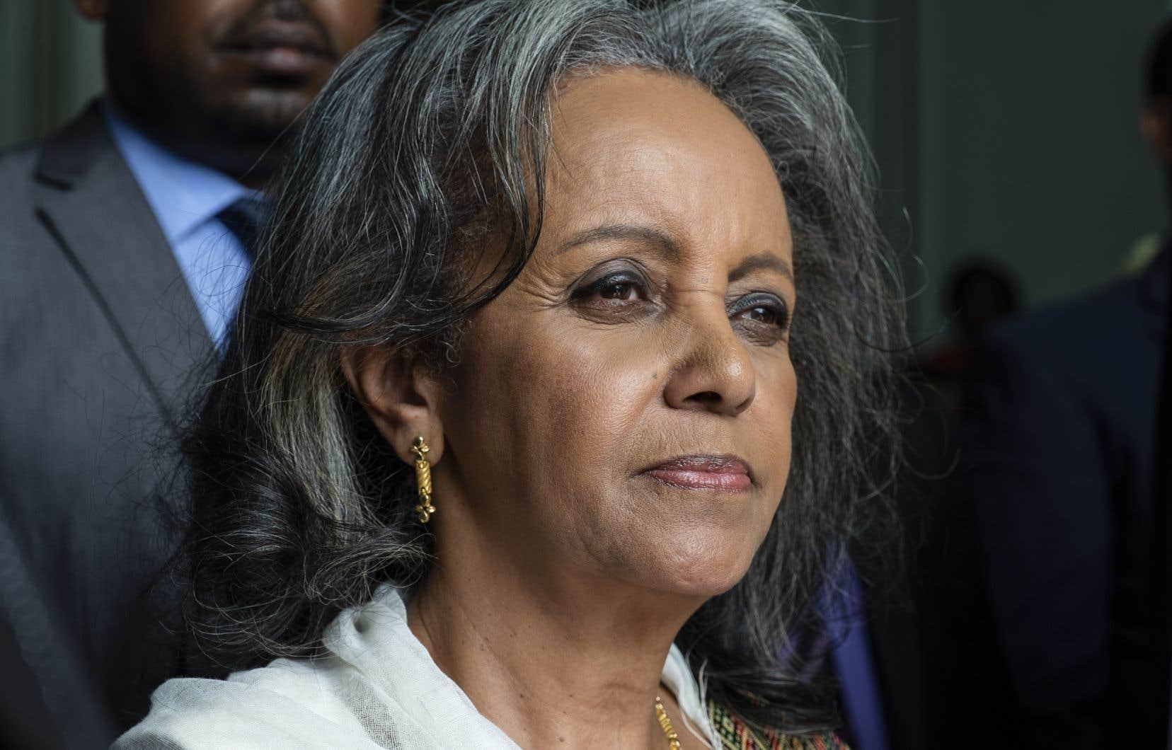 <p>Sahle-Work Zewde a été désignéeprésidente du pays, après la démission de celui qui occupait jusqu'à présent ce poste essentiellement honorifique.</p>