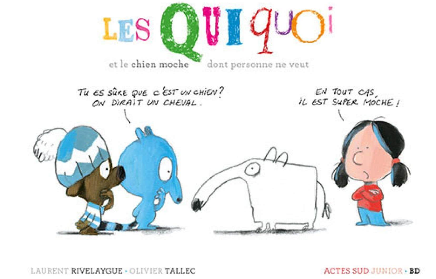 Dans ce cinquième titre tout juste paru dans la série «Les quiquoi», Laurent Rivelaygue et Olivier Tallec offrent un album tout aussi rafraîchissant, espiègle et truculent que les précédents.