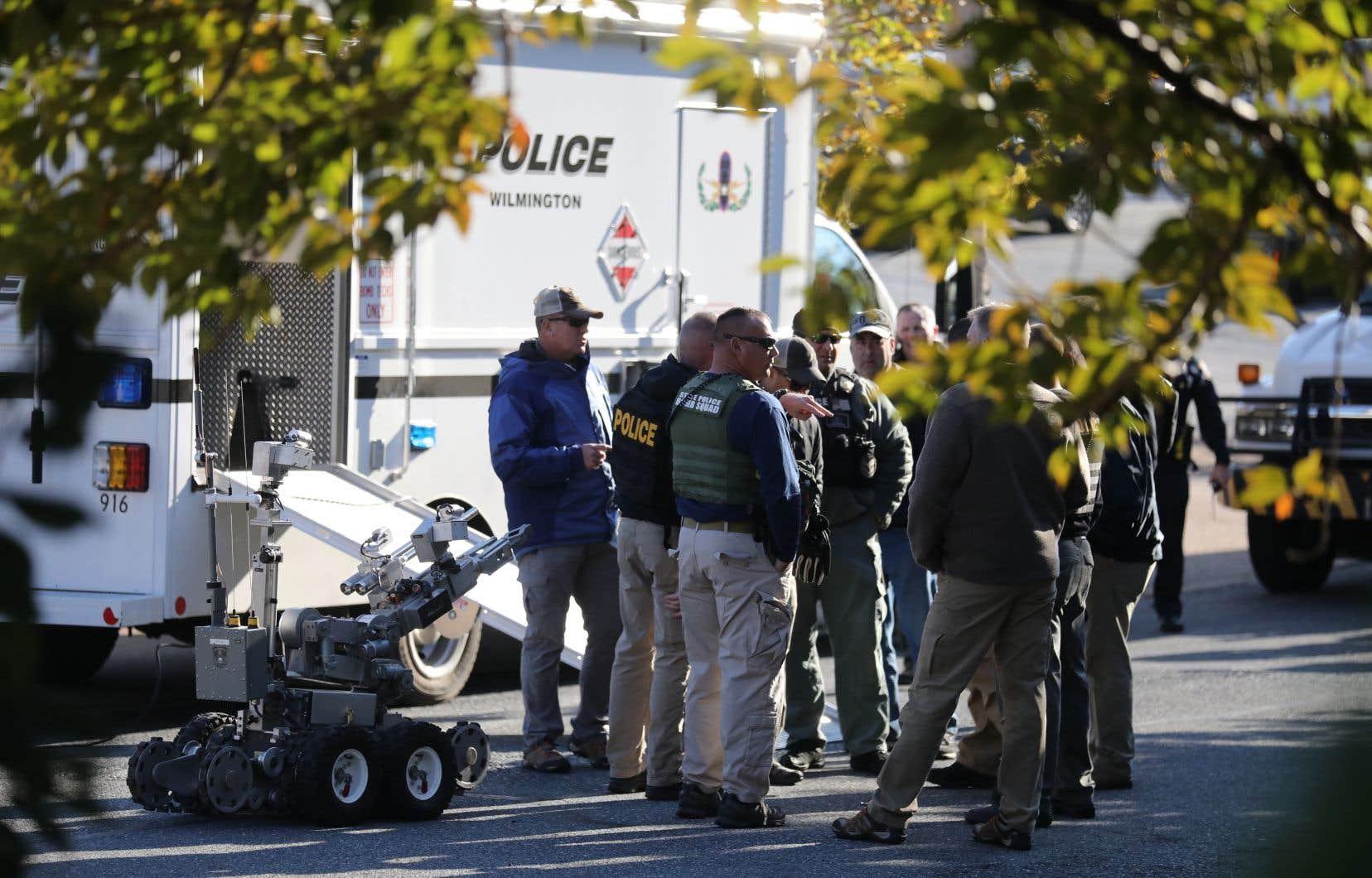 Les autorités locales et fédérales ont intercepté un des colis suspects à Wilmington, au Delaware.