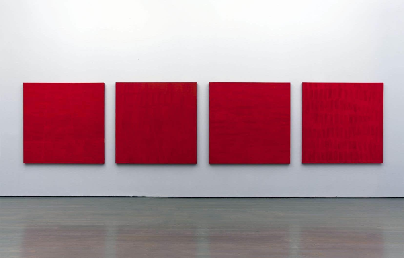 Françoise Sullivan, «Rouge nos3, 5, 6, 2» (1997)