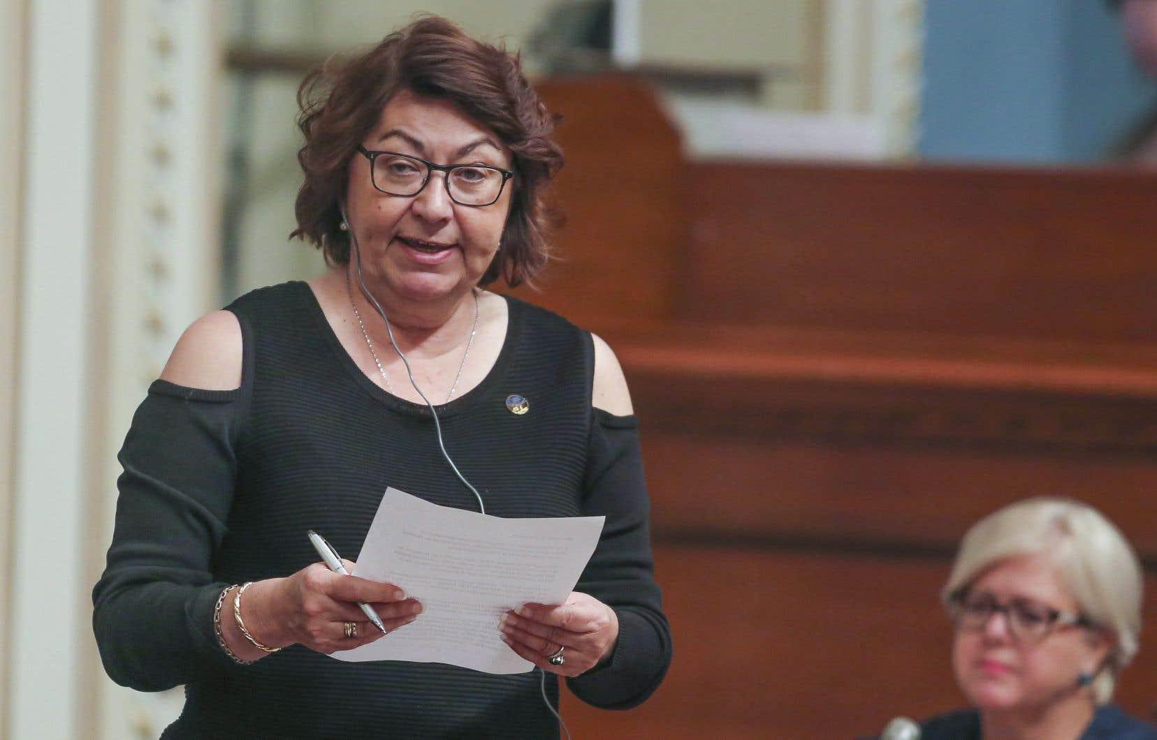 La députée caquiste Claire Samson