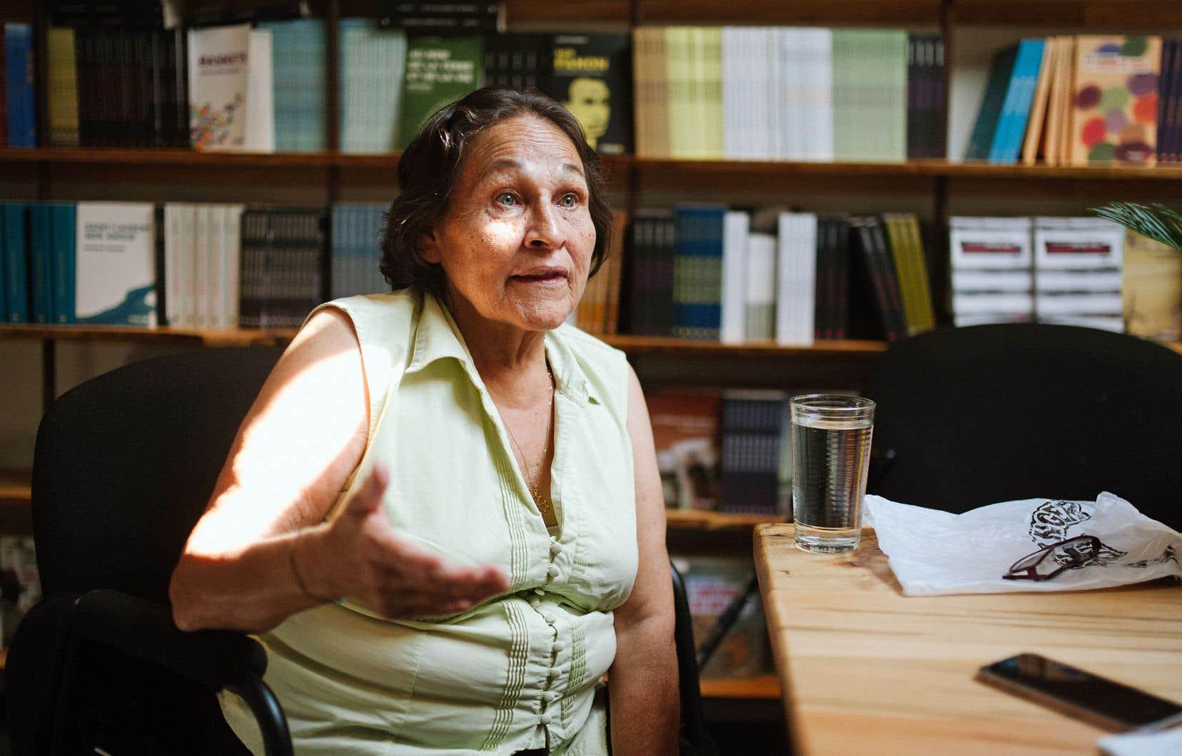 Joséphine Bacon, ici en septembre dernier, est l'une des femmes autochtones au cœur d'un film tourné au Festival de contes et légendes Atalukan à Mashteuiatsh.