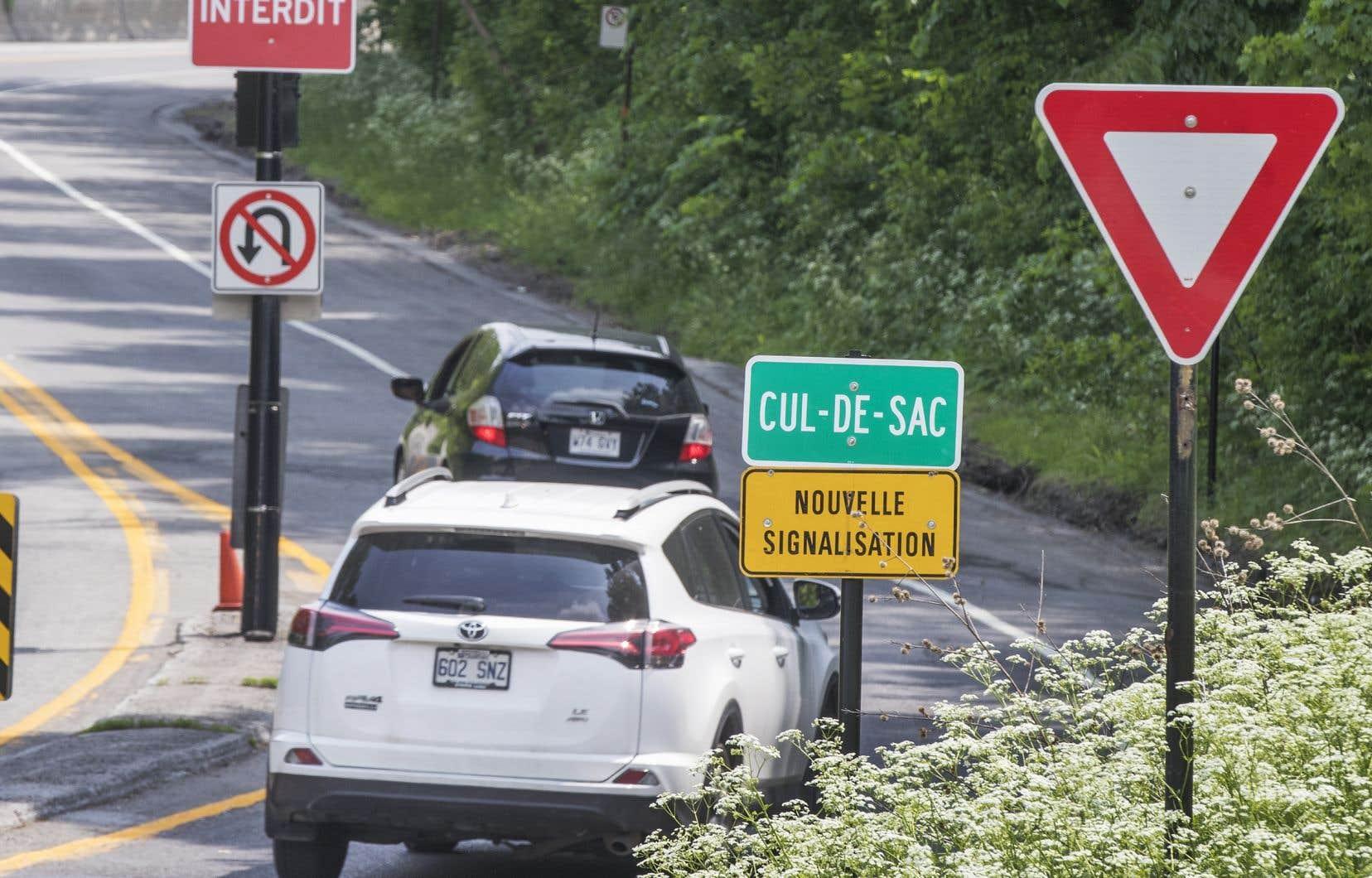 Le nombre de voitures circulant sur la montagne en semaine est passé de 10000 à 3700 véhicules par jour sur la voie Camillien-Houde.