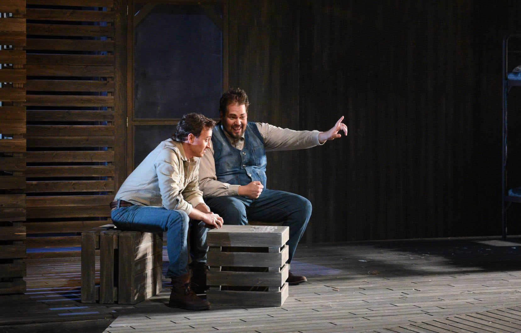 Benoît McGinnis et Guillaume Cyr se mesurent respectivement aux personnages de George et Lennie.