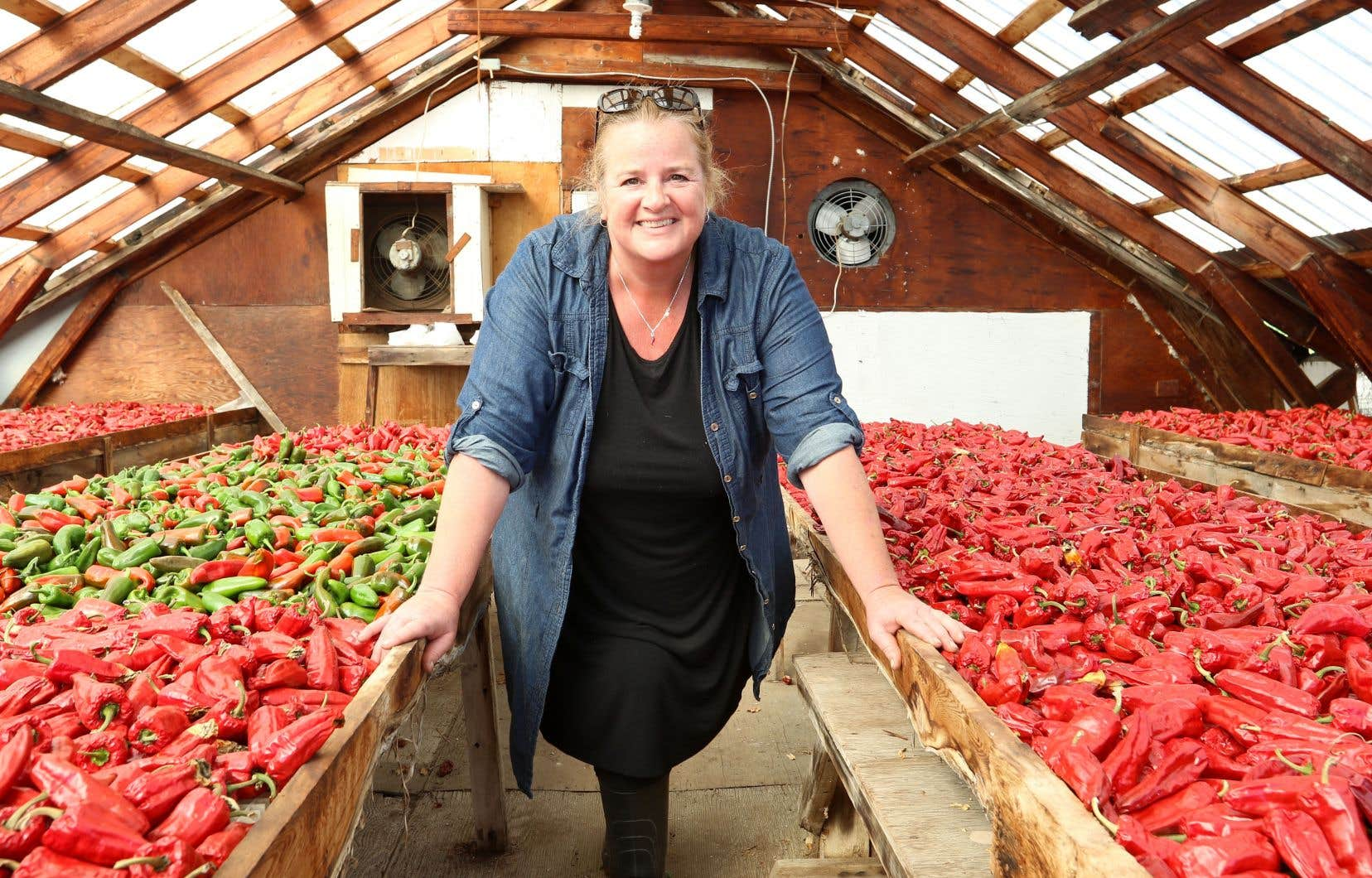 Valérie Leblond, propriétaire de la ferme maraîchère Jardin des chefs en Charlevoix