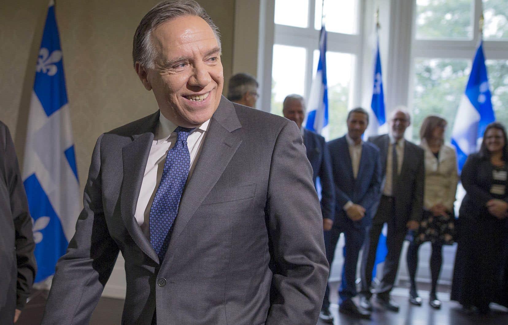 Le nouveau premier ministre québécois, au lendemain des élections générales du 1eroctobre. François Legault est parvenu à faire élire un gouvernement majoritaire.