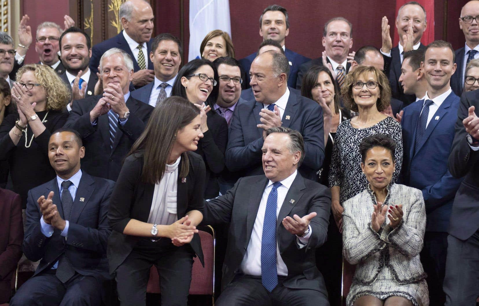 Les députés de la Coalition avenir Québec, le 16 octobre dernier