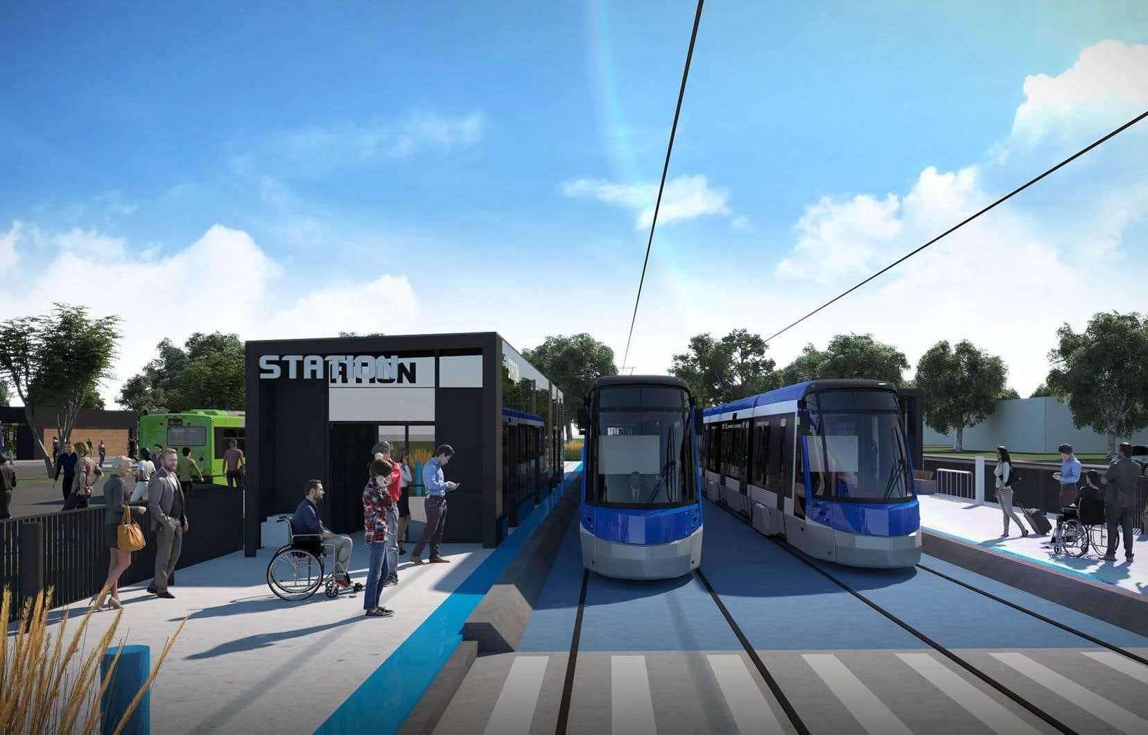 Évalué à 3,3milliards, le réseau de tramway de Québec prévoit notamment l'aménagement d'une ligne de tramway reliant le nord-est au sud-ouest de la ville.