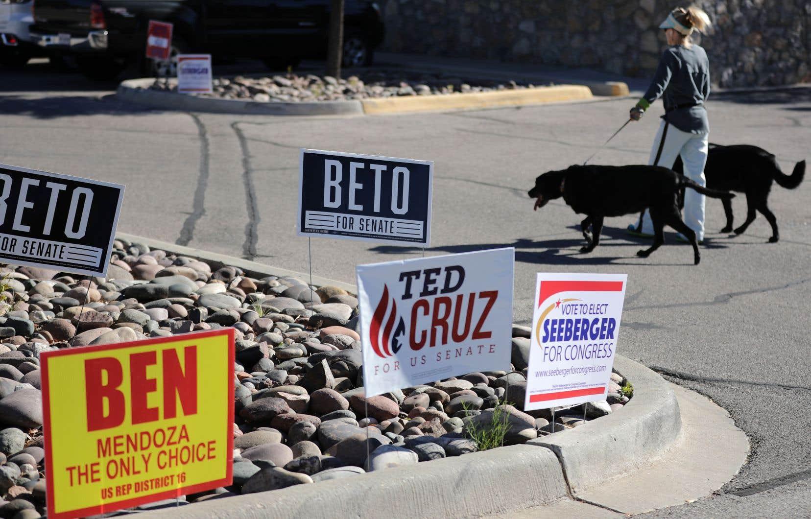 La victoire électorale a été très disputée au Texas entre le démocrate Beto O'Rourke et le républicain Ted Cruz.