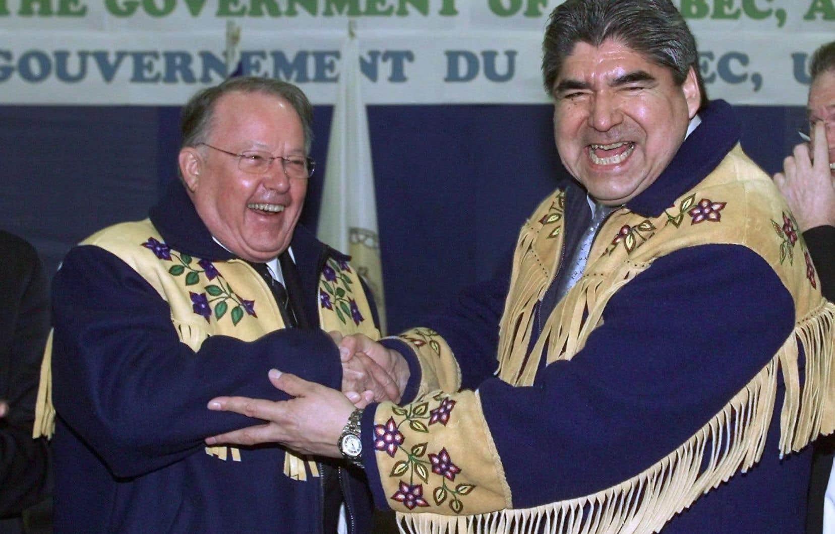 Bernard Landry et Ted Moses sont parvenus en 2002 à conclure un accord historique, qui sert depuis de «modèle pour le reste du Canada et à l'étranger».