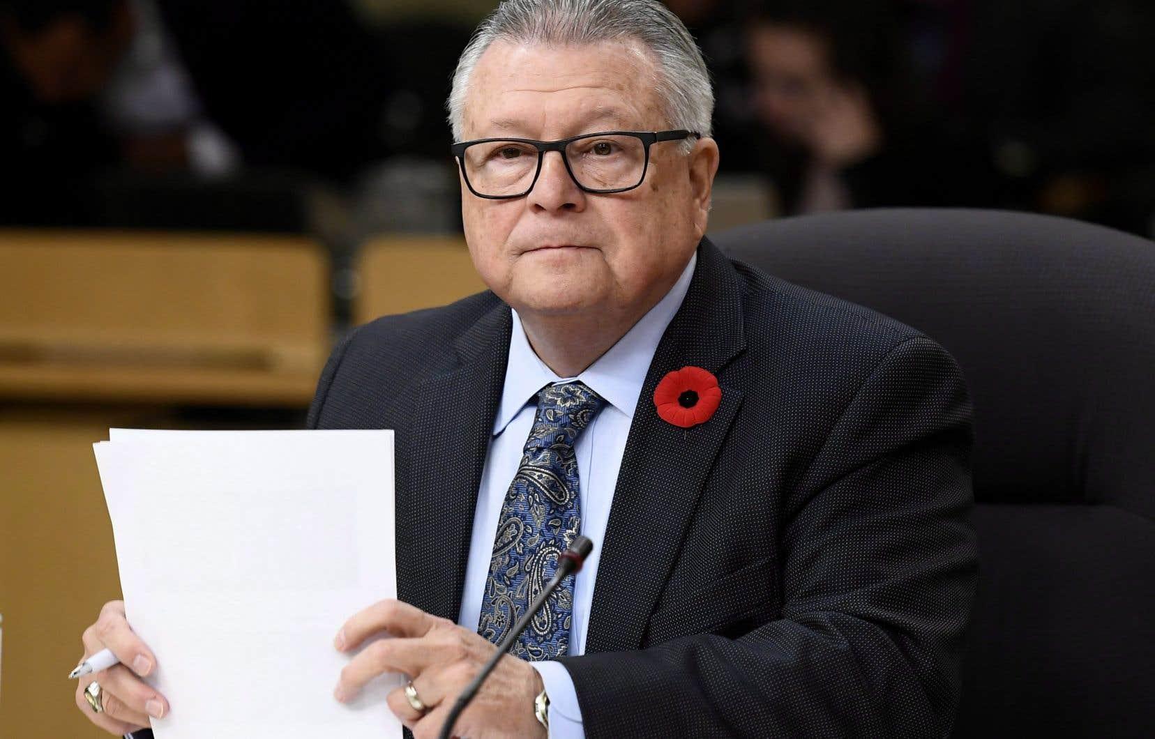 Le ministre de la Sécurité publique, Ralph Goodale