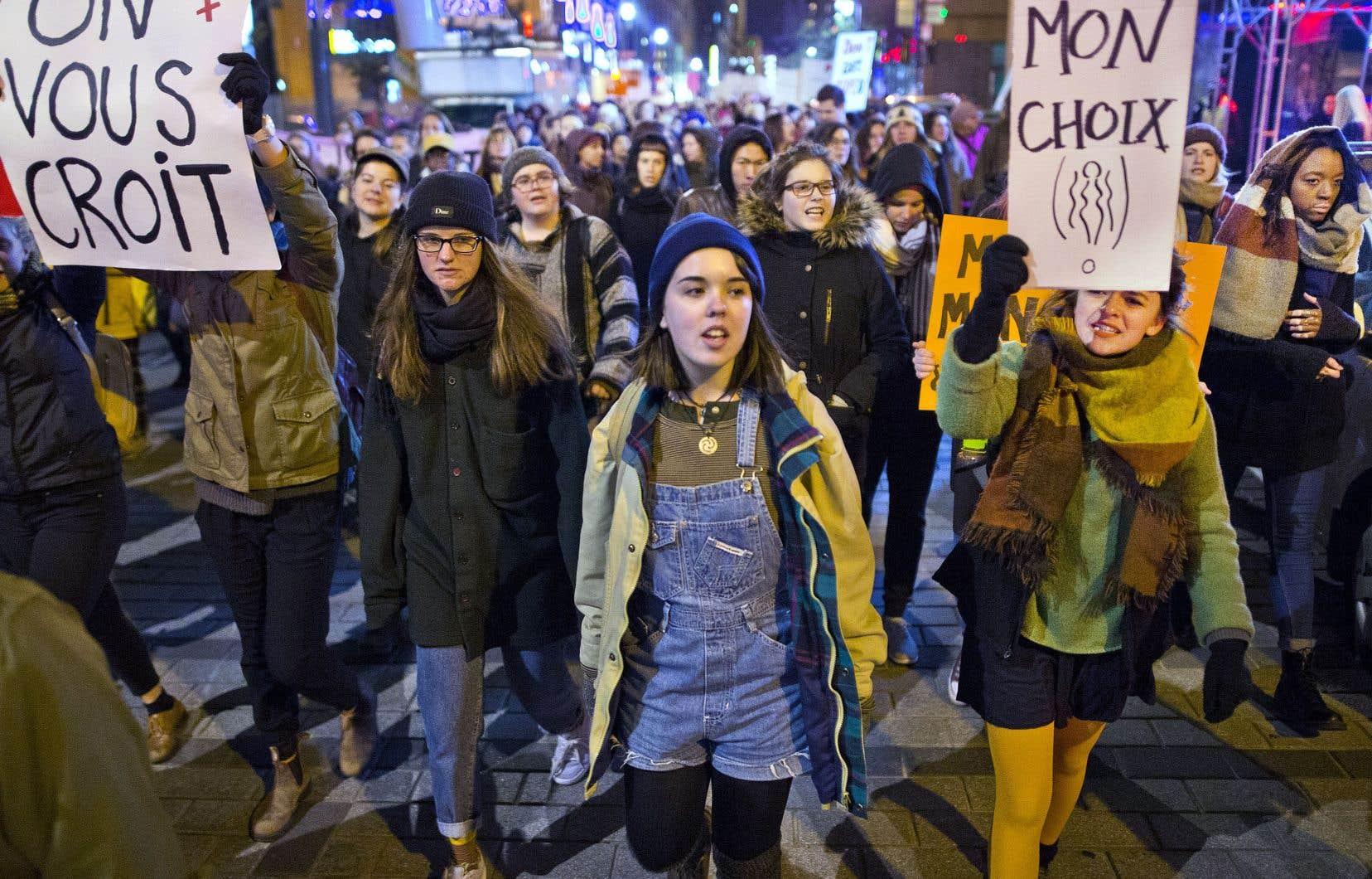 Le Québec est l'endroit au pays où le mouvement #MoiAussi a résonné avec le plus de force.