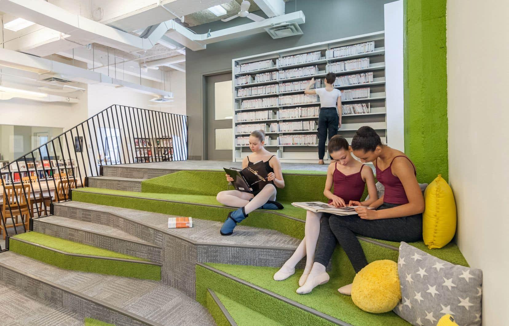 La rénovation de la bibliothèque l'année dernière donne un aperçu du potentiel de l'édifice, selon la directrice adjointe des communications et relations publiques de l'ESBQ, Lili Marin.