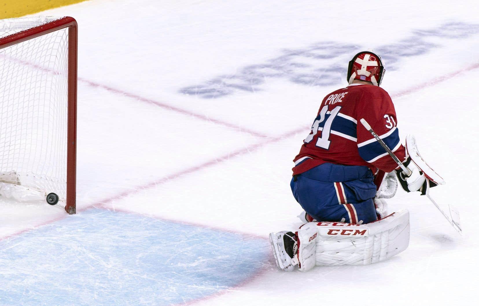 Carey Price a laissé passer un long tir de Rasmus Ristolainen en prolongation contre les Sabres de Buffalo, jeudi soir au Centre Bell.