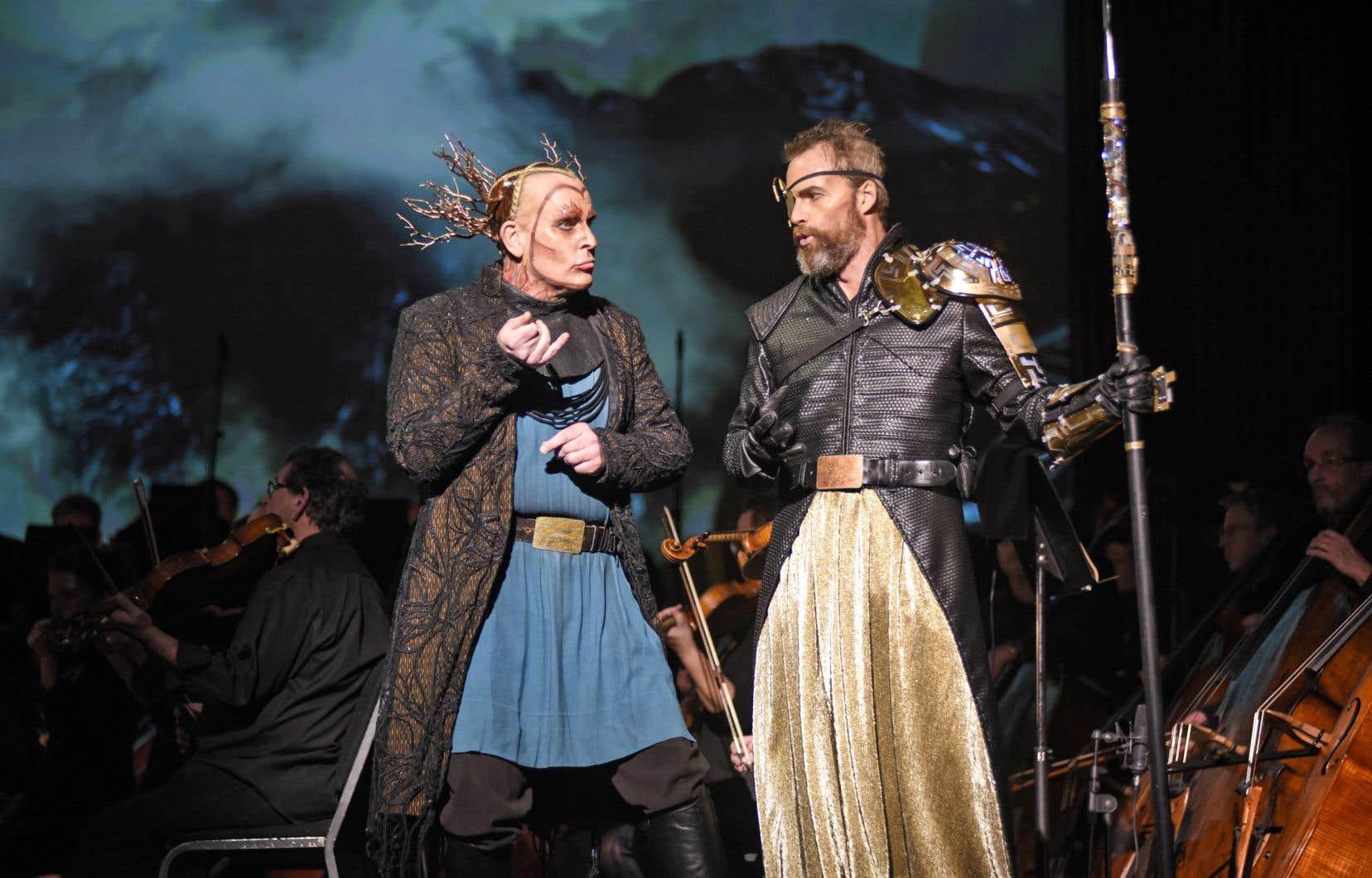 Bien que Roger Honeywell et Ryan McKinny ne se montrent pas très convaincants en Loge et Wotan, «L'or du Rhin» demeure un plutôt bon spectacle, astucieux sur le plan scénique, avec nombre de satisfactions vocales.