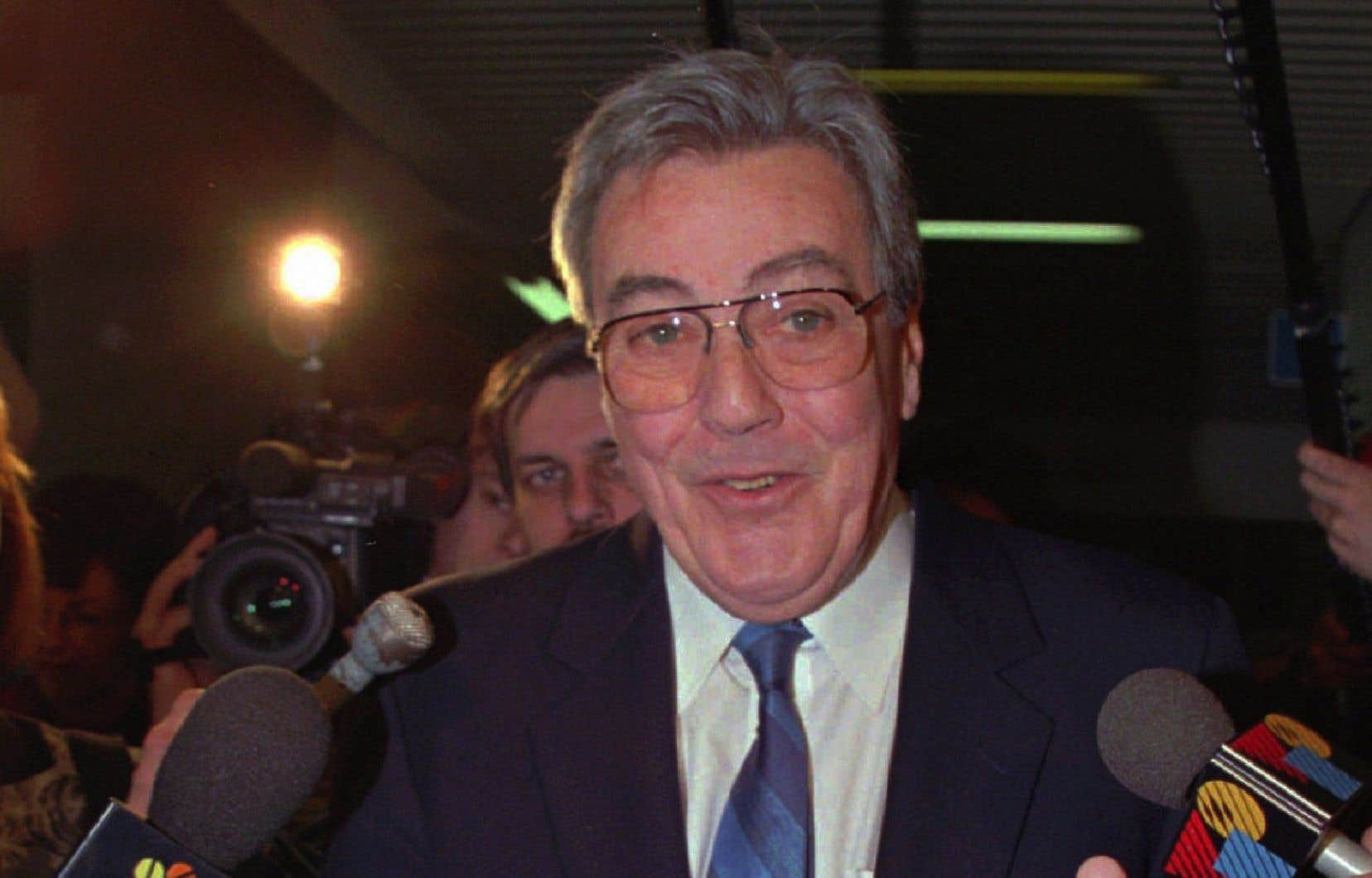 L'ancien ministre libéral Jean Bienvenue, photographié en 1996