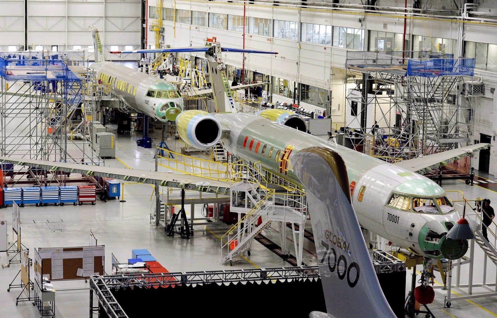 Le prix d'un Global 7500, dont l'assemblage final se fait à Montréal, est estimé à plus de 70millions de dollars.