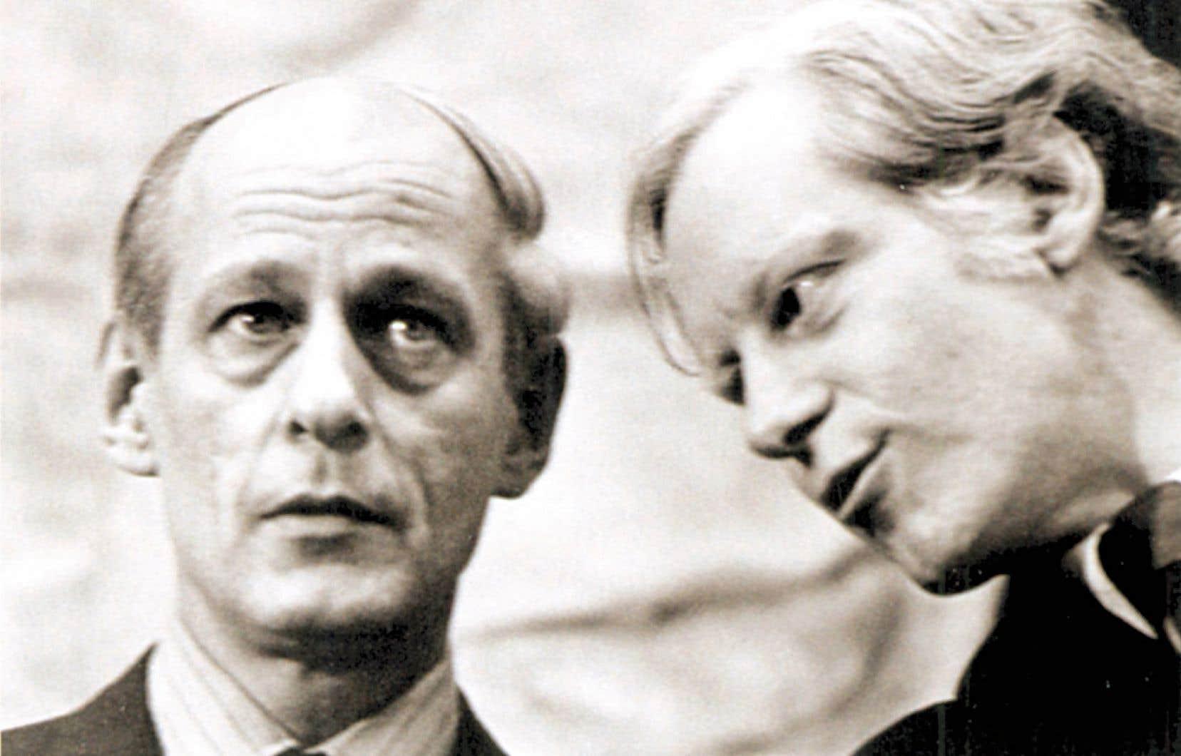 René Lévesque et Pierre Bourgault au début des années 1970