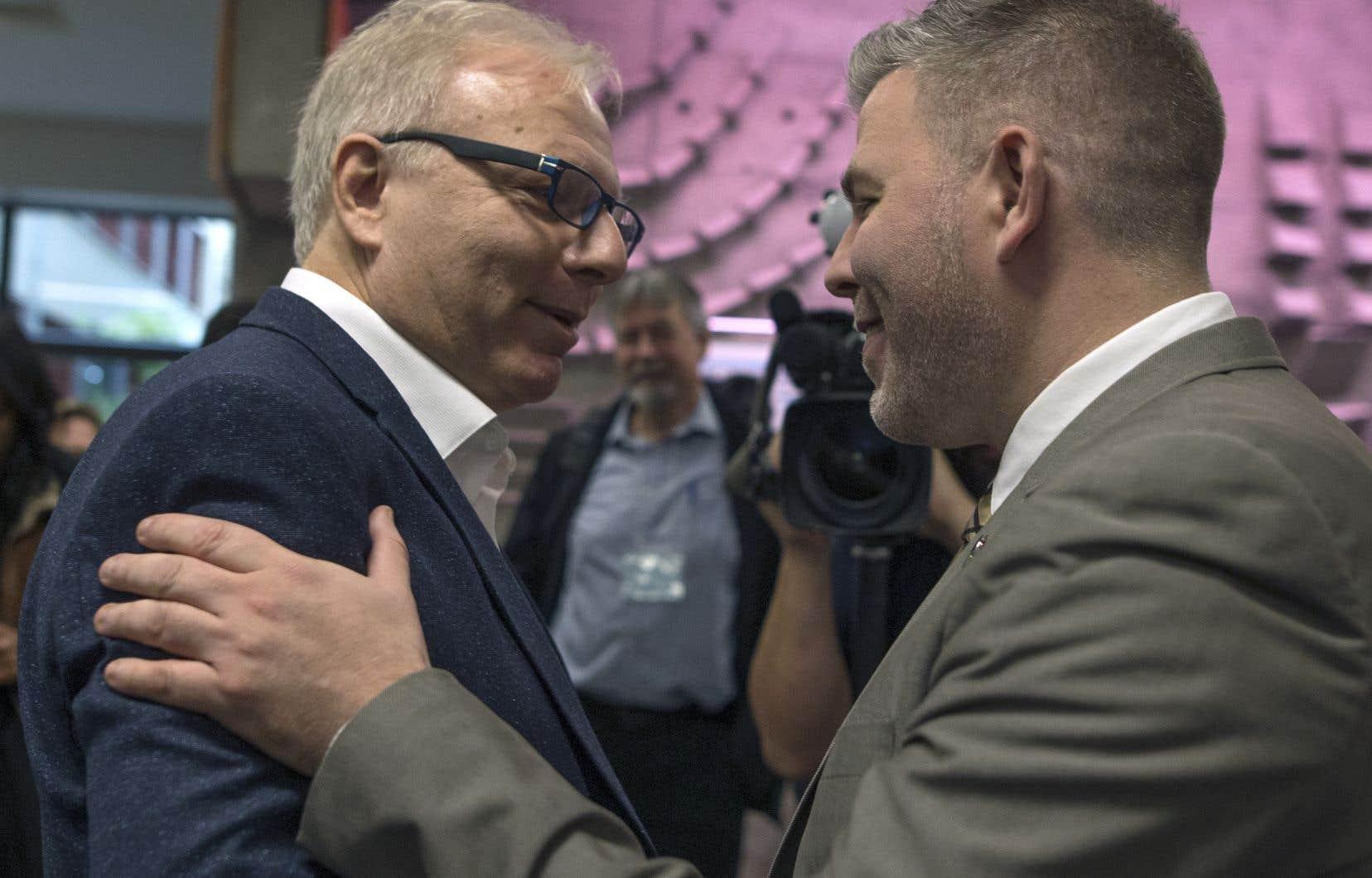 Jean-François Lisée a participé au bilan de la campagne électorale organisé par l'état-major du PQ au Collège Maisonneuve samedi après-midi.