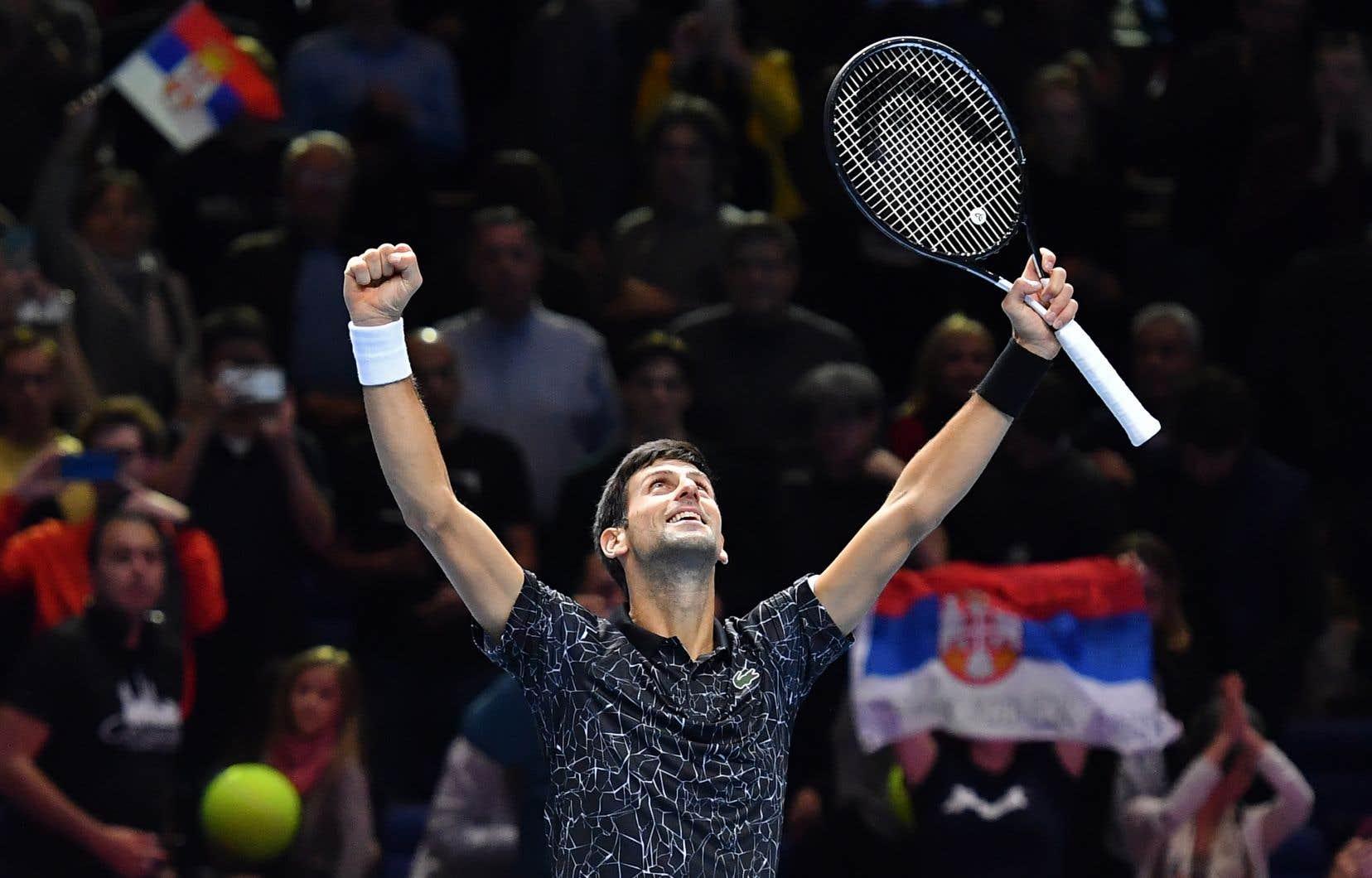 Novak Djokovic s'est qualifié samedi pour la finale du Masters de Londresen dominant le Sud-Africain Kevin Anderson 6-2, 6-2.