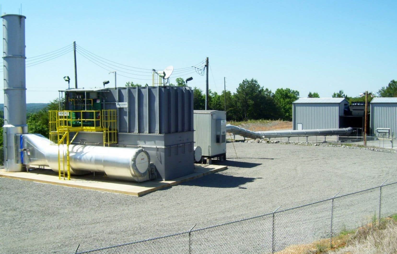 Biothermica a mis en branle son premier projet de destruction de méthane minier en 2009, en Alabama.