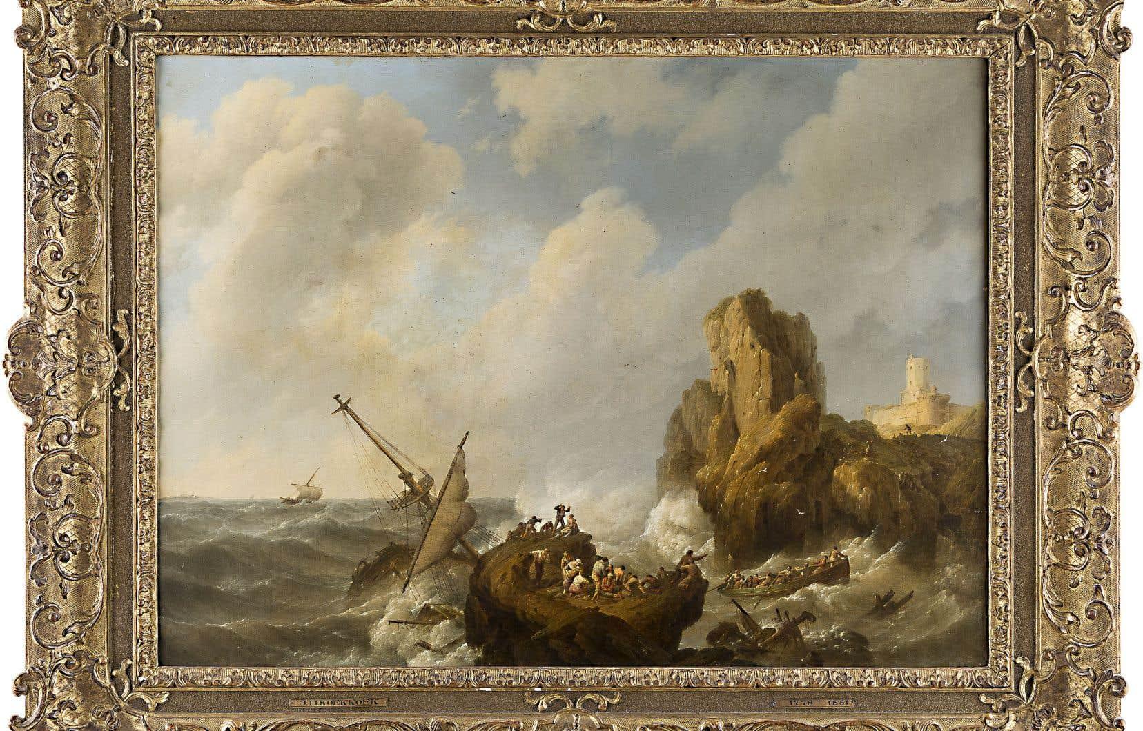 Le régime nazi avait forcé en 1937 la liquidation du tableau «Une tempête en mer» (1841), du peintre néerlandais Johannes Hermanus Koekkoek (1778-1851), appartenant au marchand d'art Max Stern, qui s'est réfugié ensuite à Montréal.