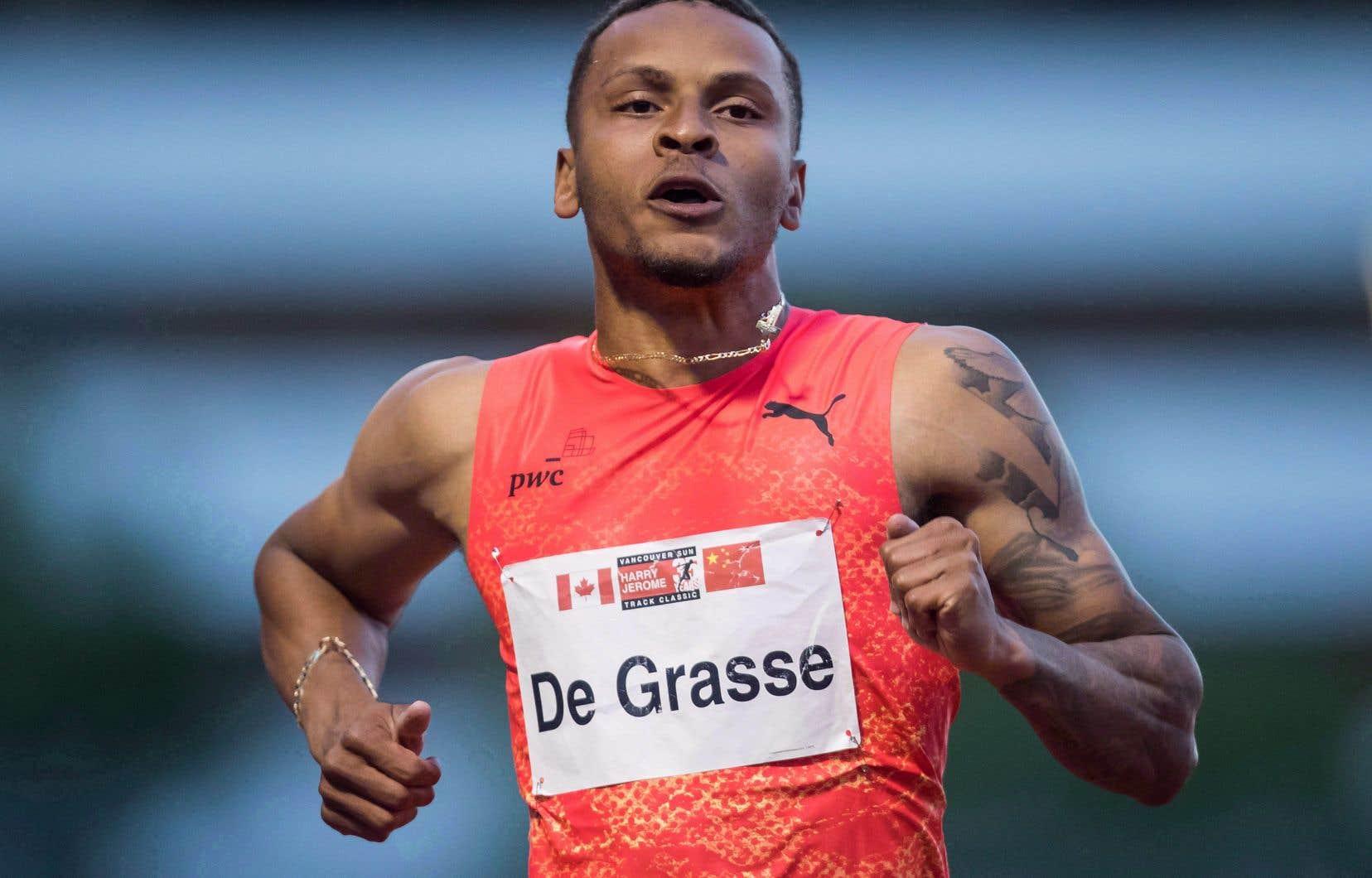 De Grasse, qui a frappé l'imaginaire en rivalisant avec Usain Bolt aux Jeux olympiques de Rio de Janeiro, a mentionné qu'il aimerait reprendre l'entraînement d'ici la fin du mois.