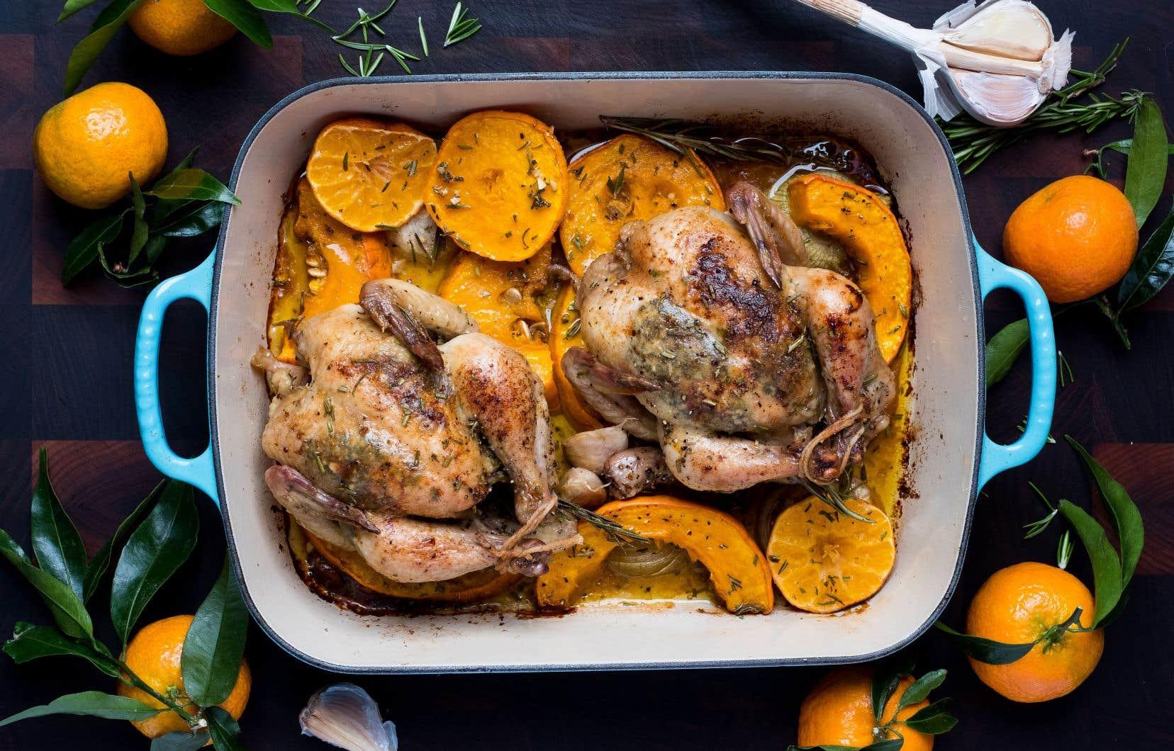 Un poulet de Cornouailles est en fait une jeune poule d'environ 500g qui a l'avantage d'être plus tendre et plus juteuse.