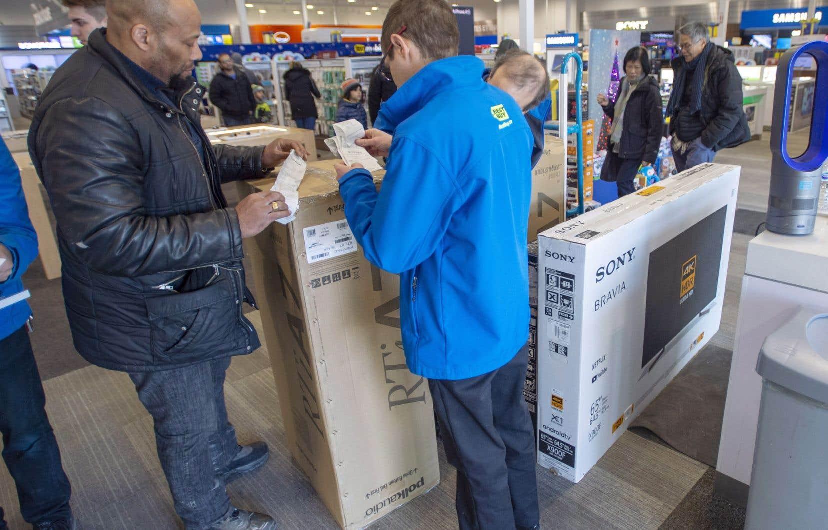 La valse de consommation a été lancée, notamment à Laval, à l'occasion du Vendredi fou.