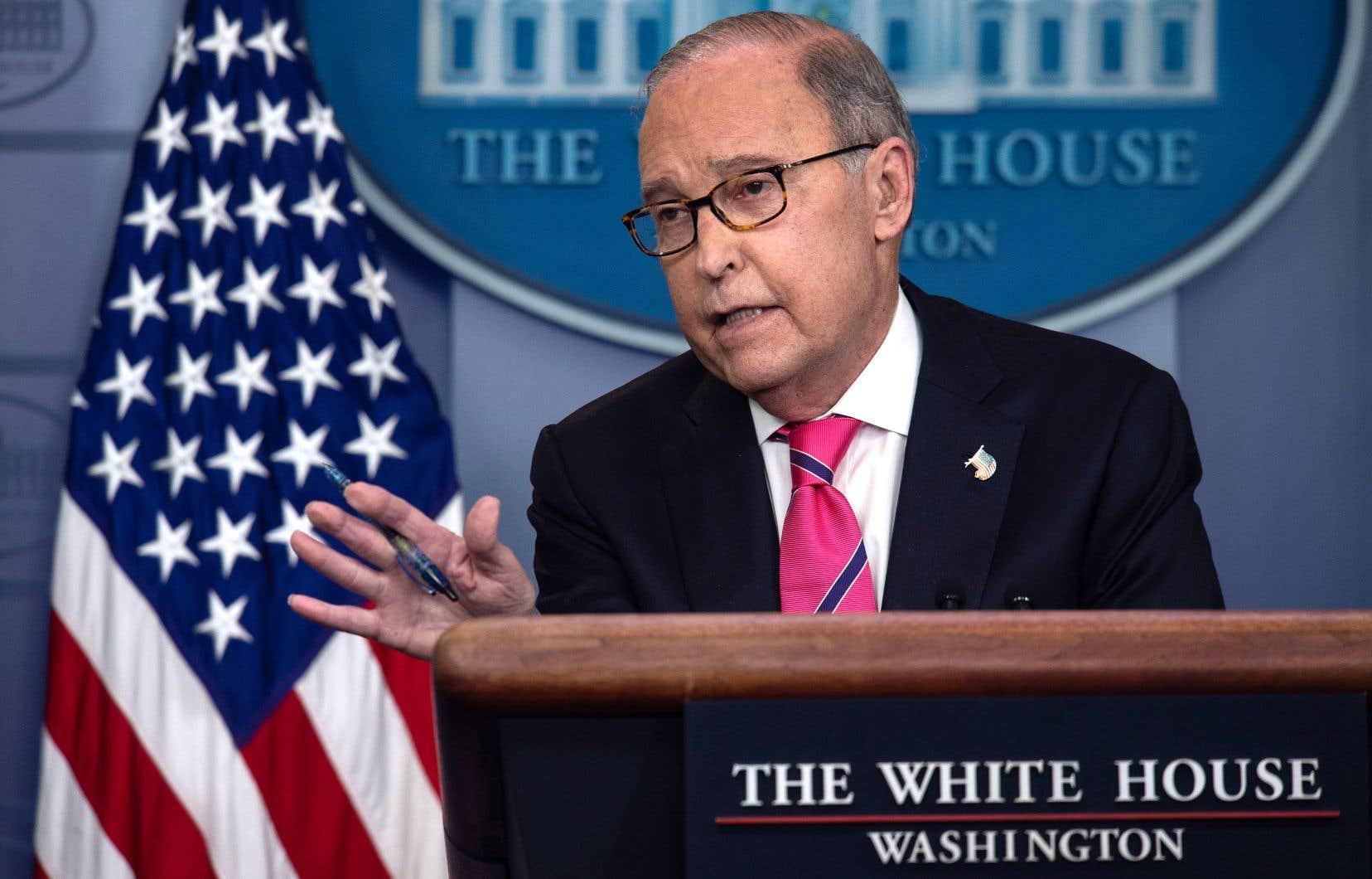 Le conseiller économique de la Maison-Blanche, Larry Kudlow