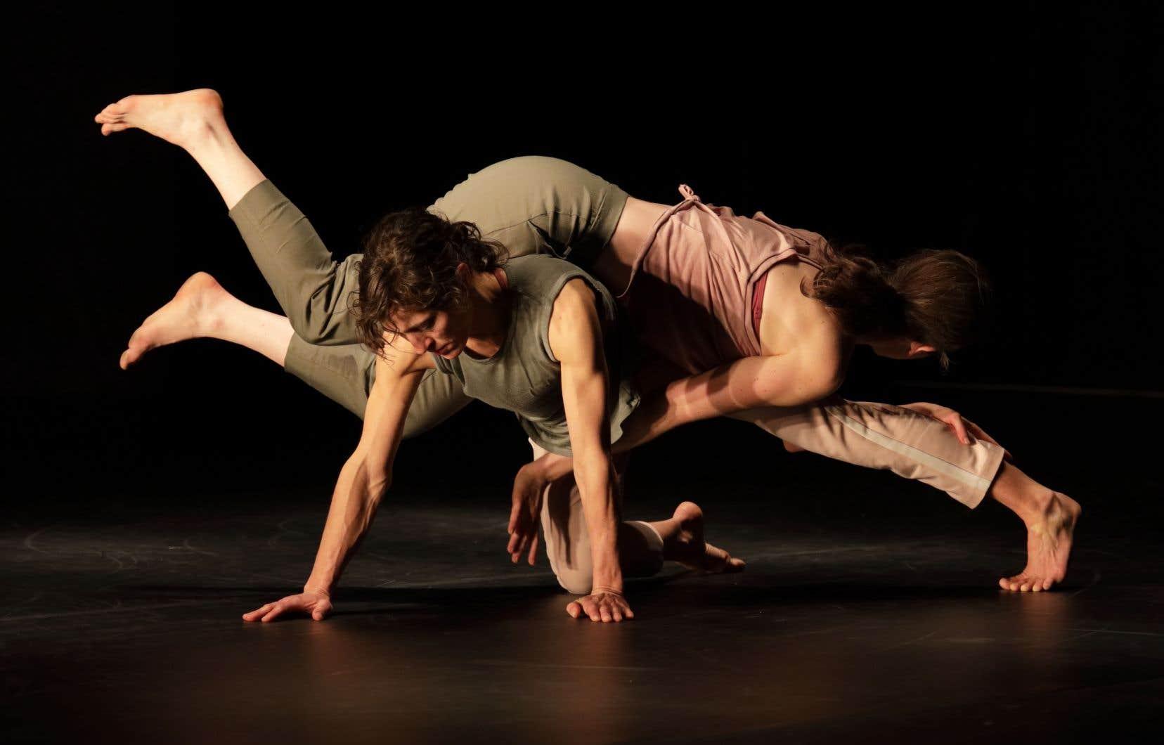 L'aspect relationnel du travail des danseurs brille dans des duos où les corps s'enchevêtrent, prennent appui les uns sur les autres et vacillent ensemble dans des déséquilibres fragiles, parfois périlleux.