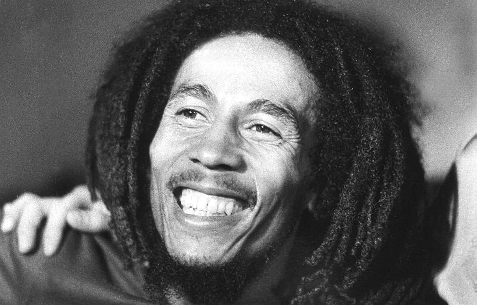 Bob Marley, icône de la musique reggae, en 1976