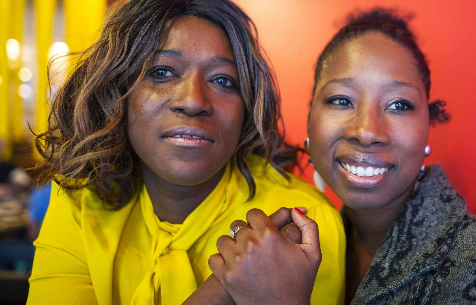 Lydie Olga Ntap et Dorothy Alexandre, deux émules de Michelle Obama, «deviennent» sans cesse: «On nous voit, mais on nous met sur mute.»