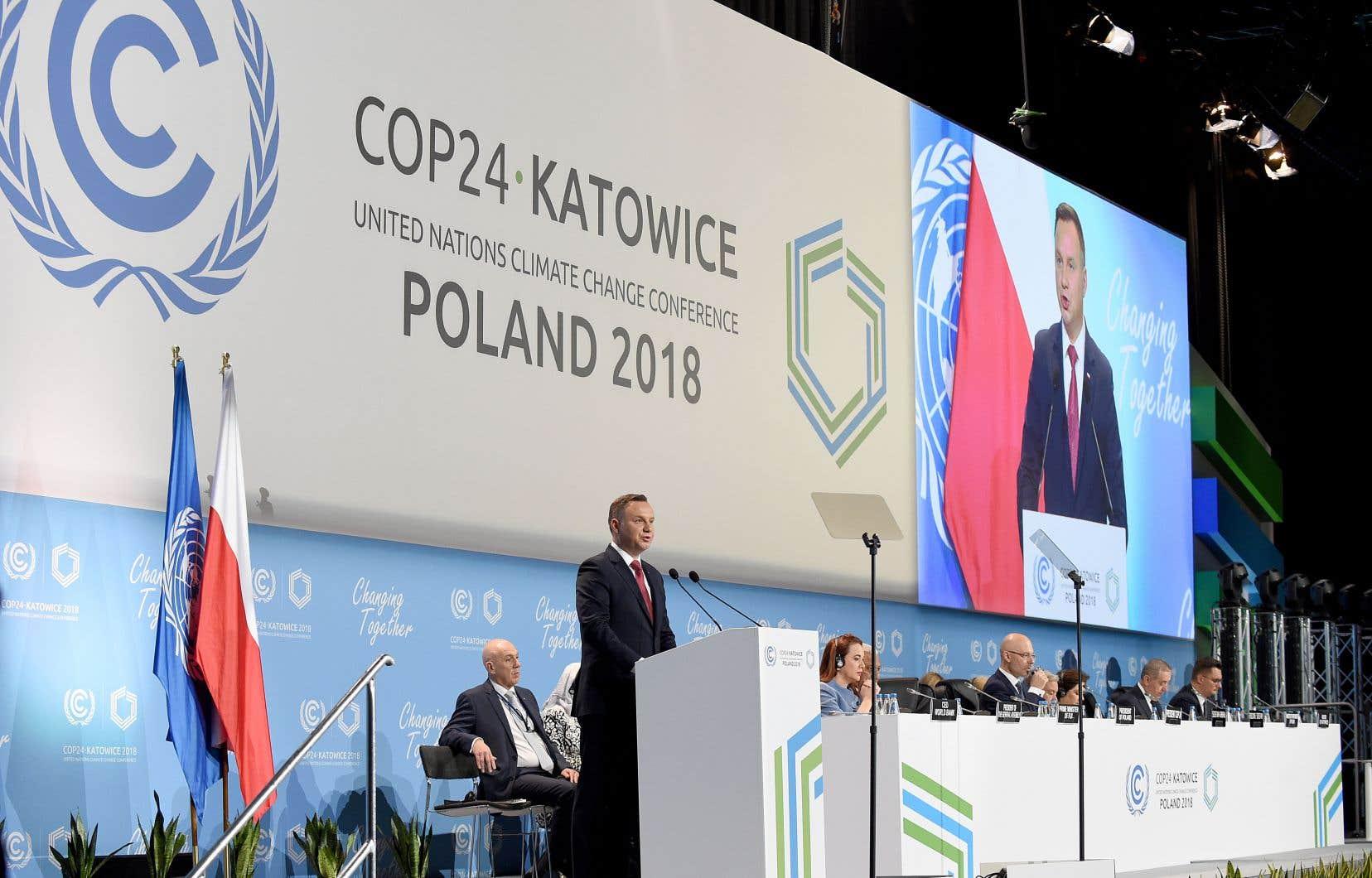 Le président polonais, Andrzej Duda, a livré un plaidoyer contre les «politiques climatiques contraires à la volonté de la société et au détriment des conditions de vie».