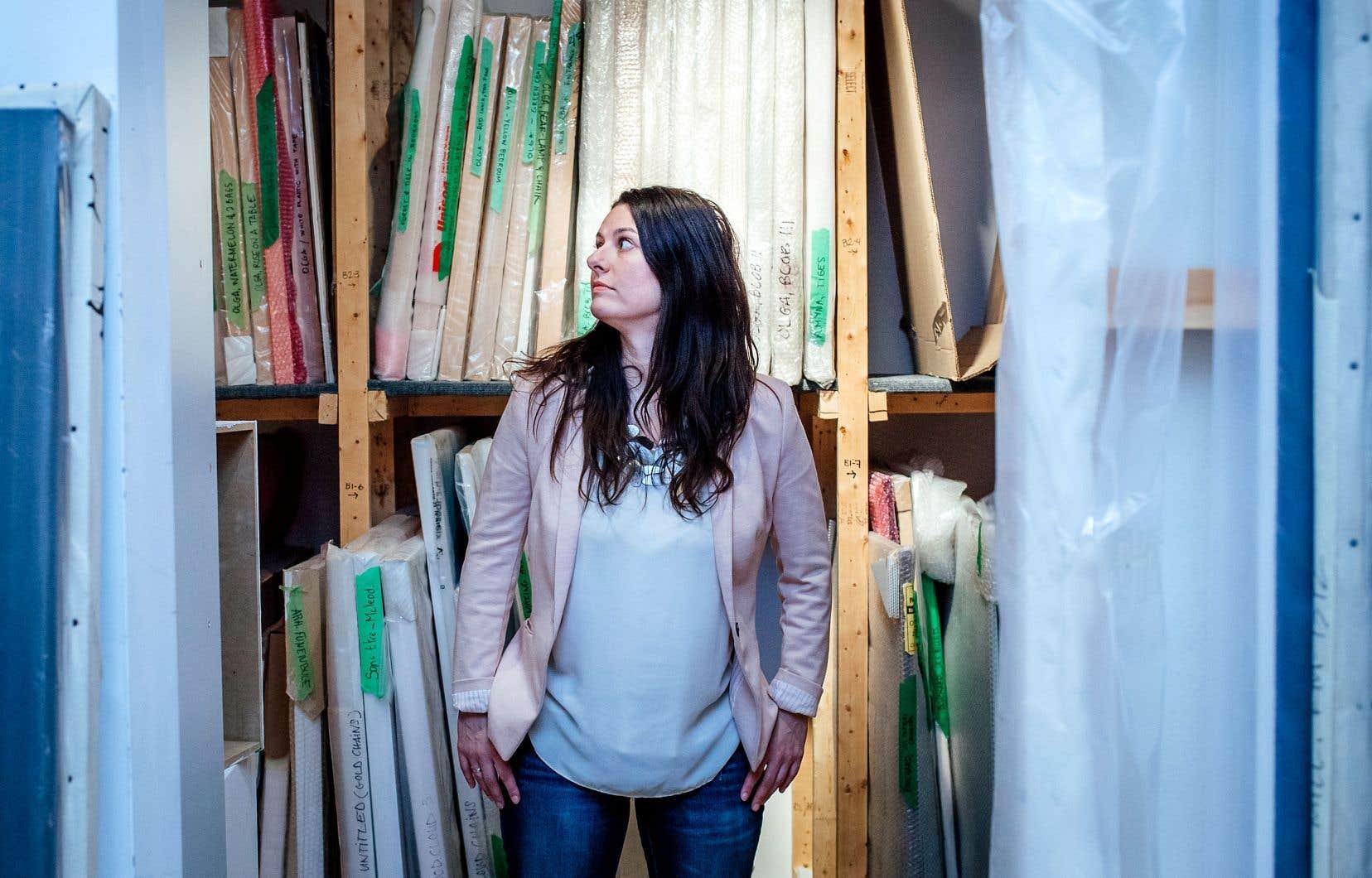 Émilie Grandmont Bérubé (notre photo) et Jean-Michel Bourgeois sont arrivés à la tête de la galerie d'art Trois Points en 2009.