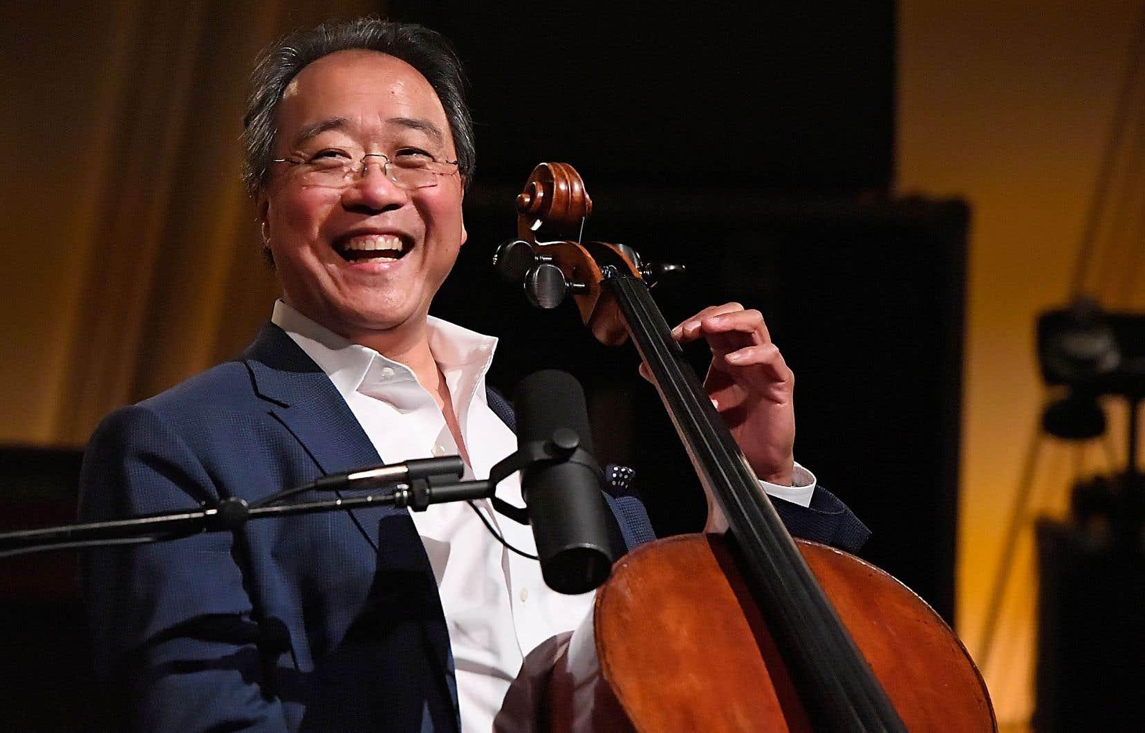 Yo-Yo Ma lors de sa prestation à la station Symphony Hall de la radio Sirius XM à Washington, en juin dernier
