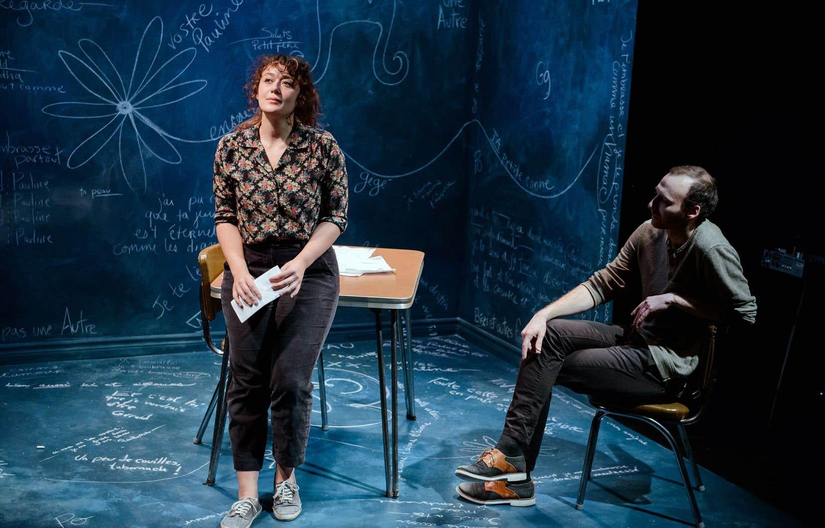 Rose-Anne Déry et Laury Huard jouent Pauline Julien et Gérald Godin.