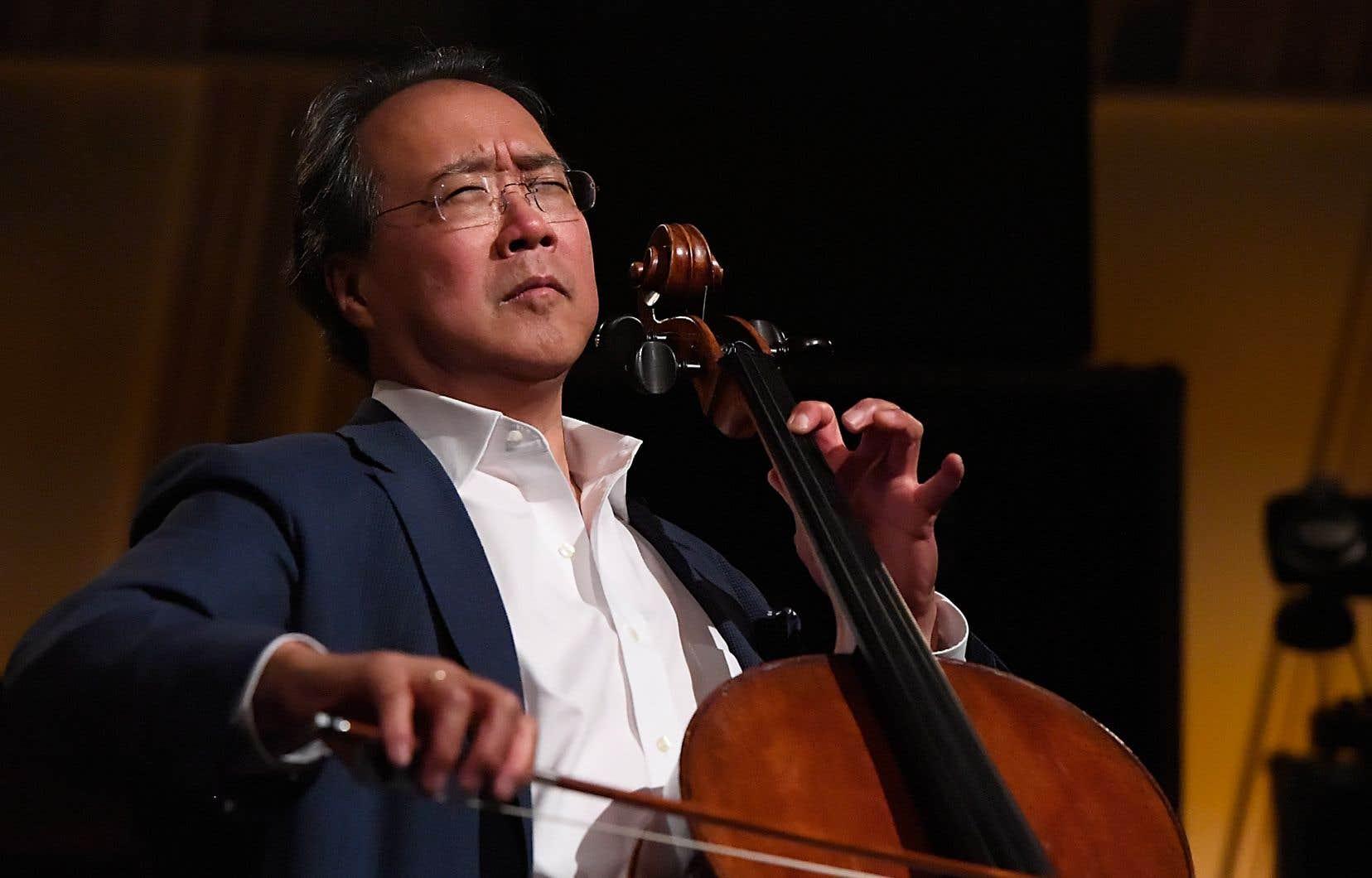Le violoncelliste Yo Yo Ma proposera une «exploration interactive» dans laquelle son jeu devrait être associé à des effets visuels.