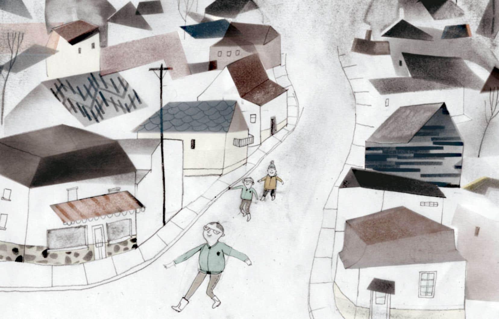Une illustration tirée du livre «Harvey», de Janice Nadeau.