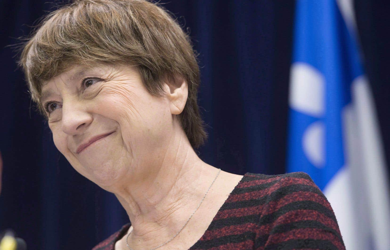 L'ex-élue et porte-parole de Québec solidaire, Françoise David