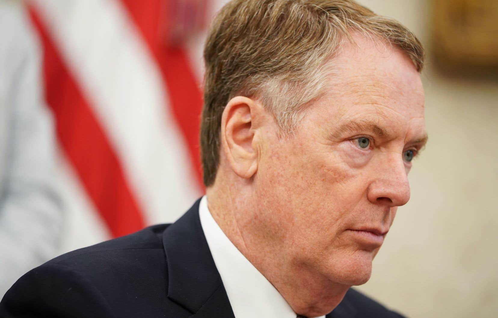 Le négociateur en chef américain chargé de mener des tractations avec la Chine, Robert Lighthizer