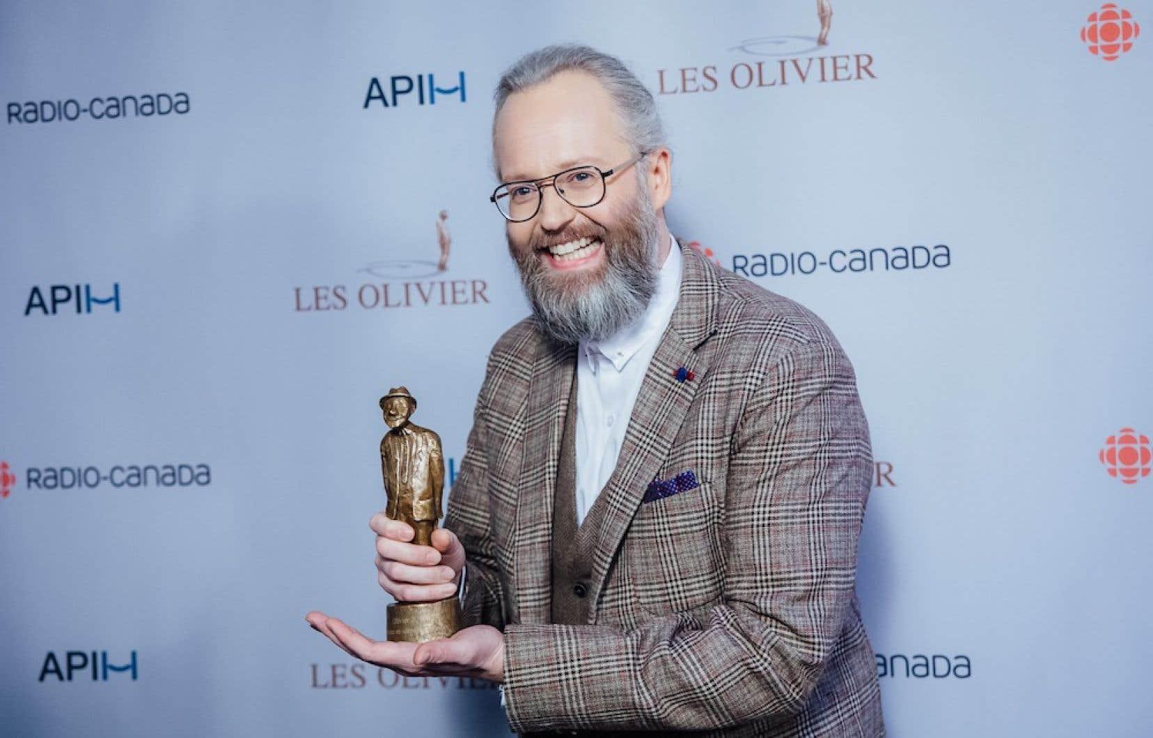 L'humoriste François Bellefeuillea remporté l'Olivier de l'année.